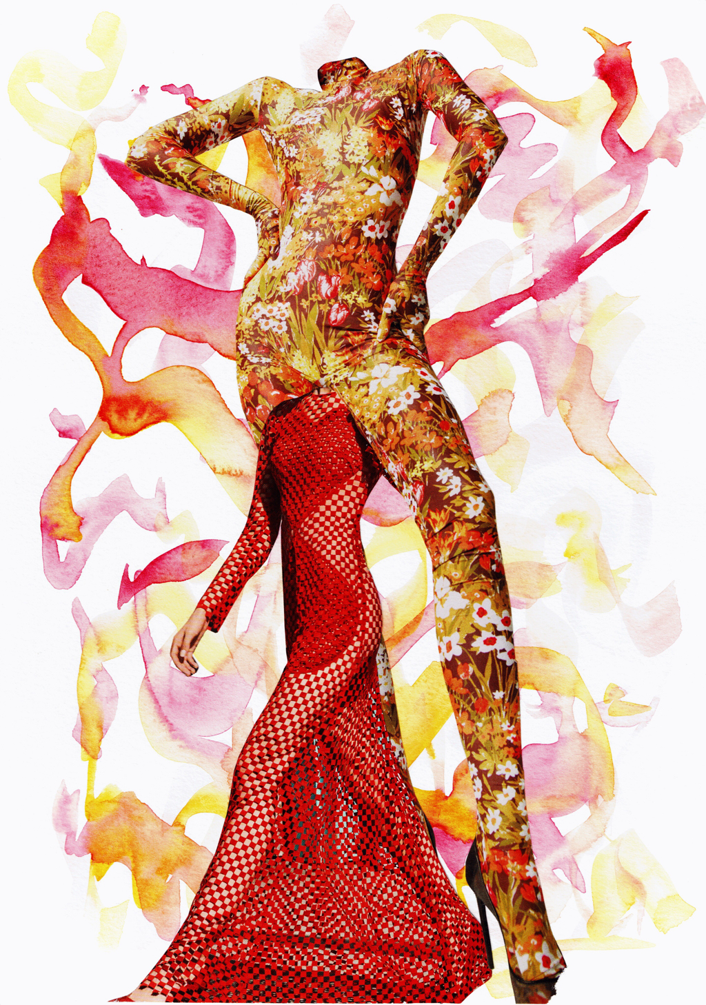 Yellow, Pink & Red by Laura Dunkin-Hubby