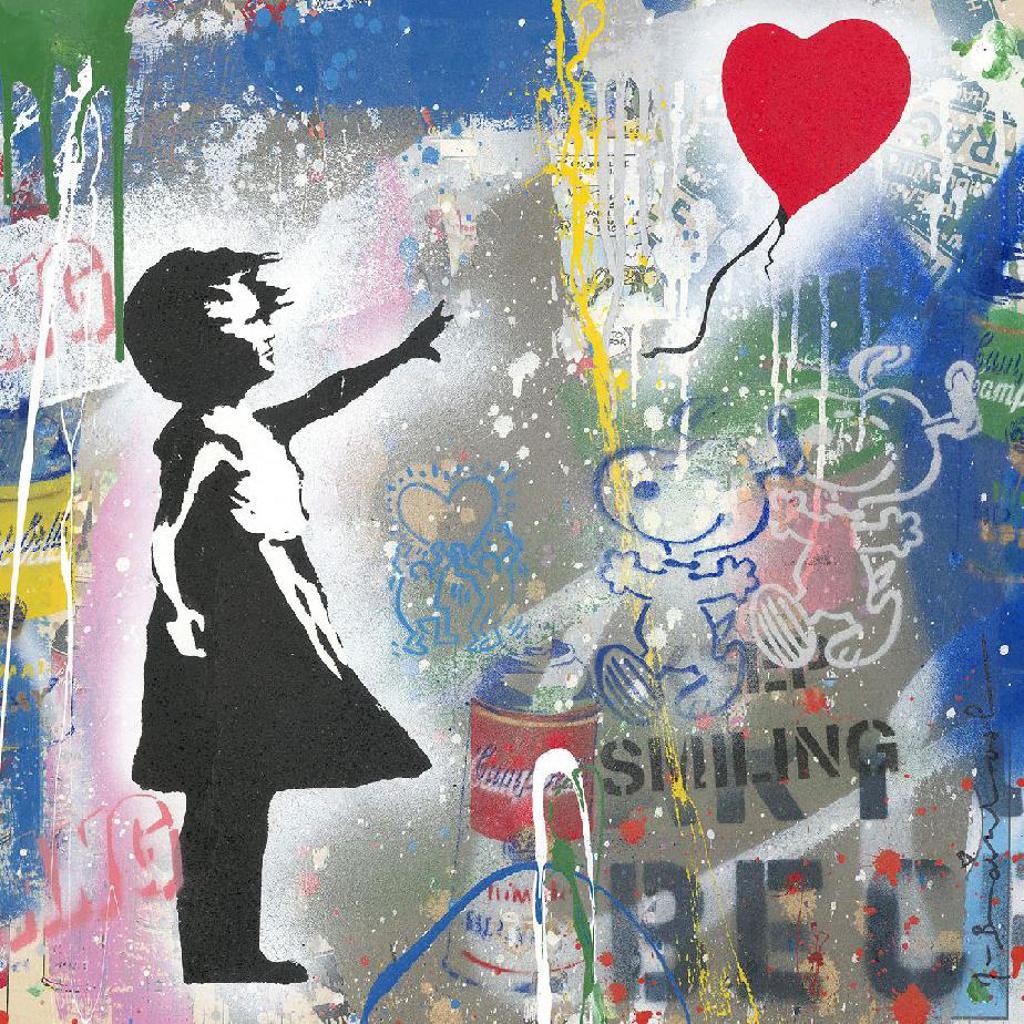 Balloon Girl by Mr. Brainwash (b. 1966)