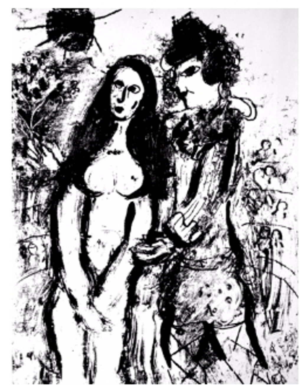 Clown In Love from Chagall Lithographs I by Marc Chagall (1887 - 1985)