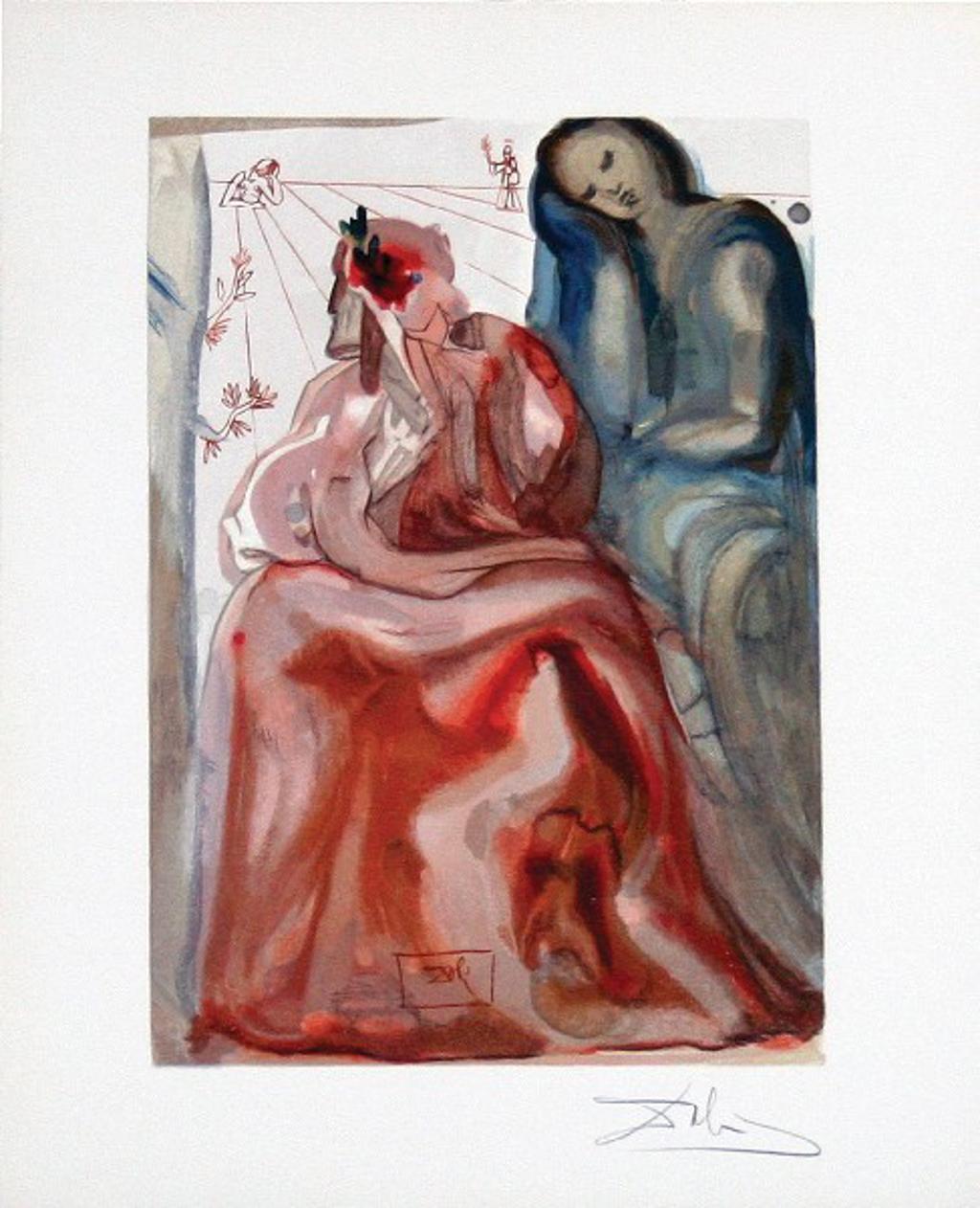 Purgatory Canto 31: Dante's Confession from The Divine Comedy by Salvador Dali (1904 - 1989)