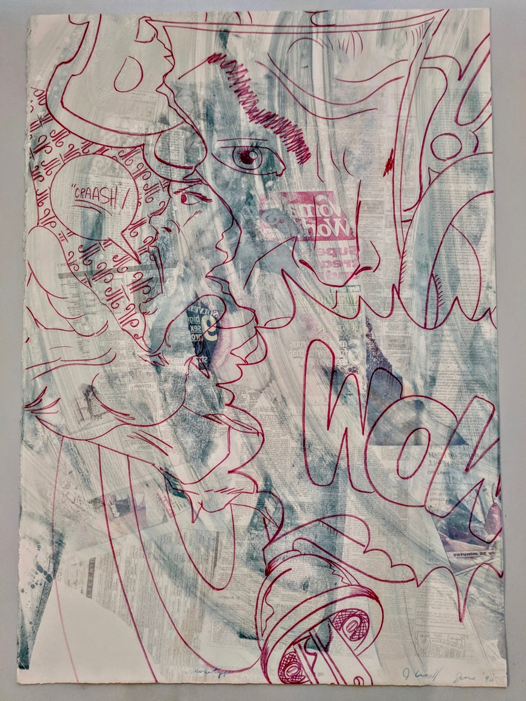 """Untitled (Electrical Cord Red) by John """"Crash"""" Matos"""