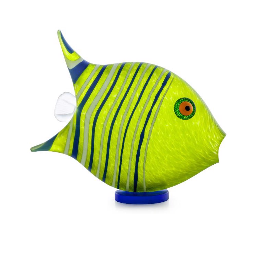 sST/ ANGEL FISH, SM, ppwt, lime green by Borowski