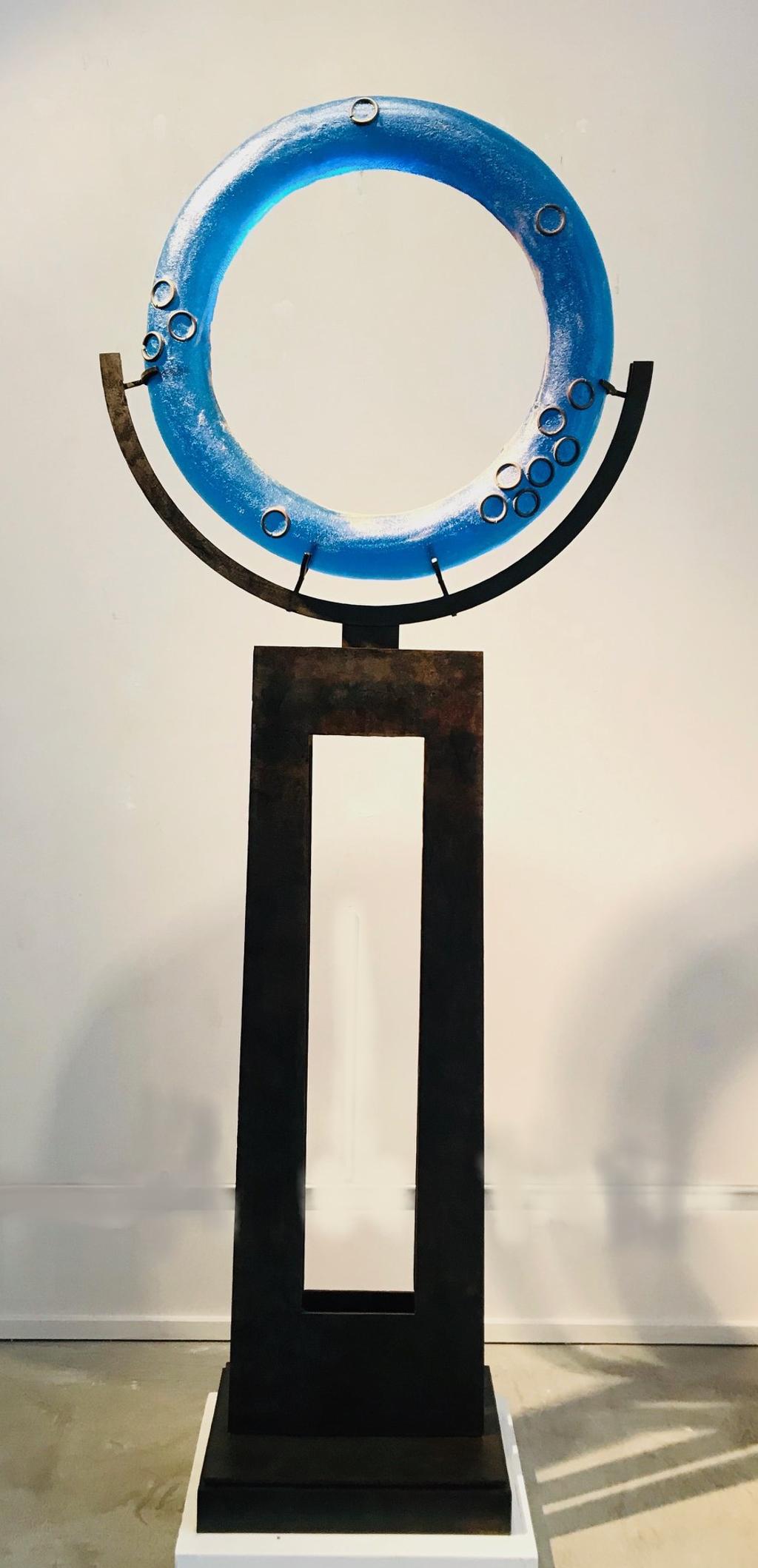 Vibrant Blue Ring Freestanding by Marlene Rose (b. 1967)