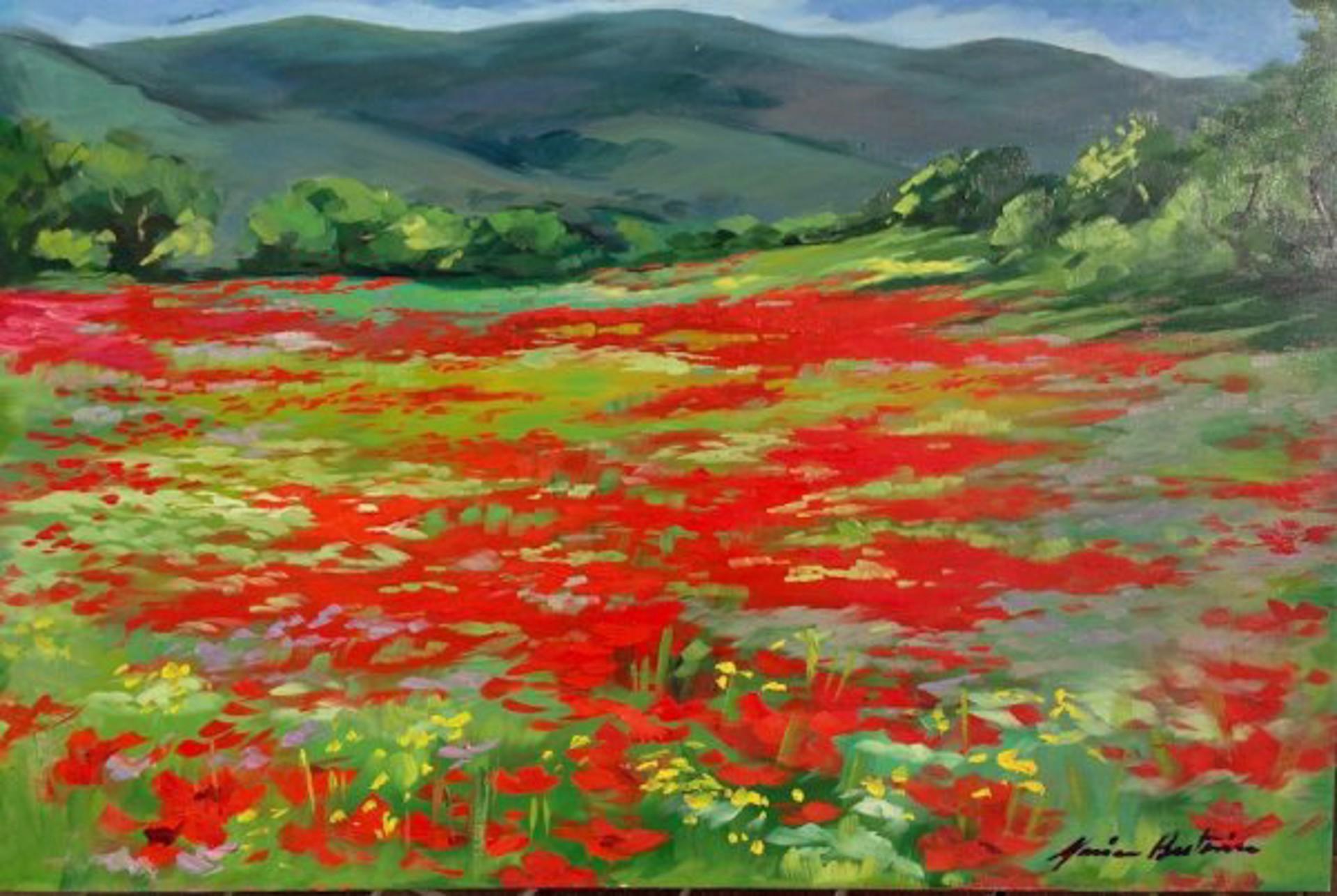 Bertran: Elizabeths Poppy Field by Maria Bertrán