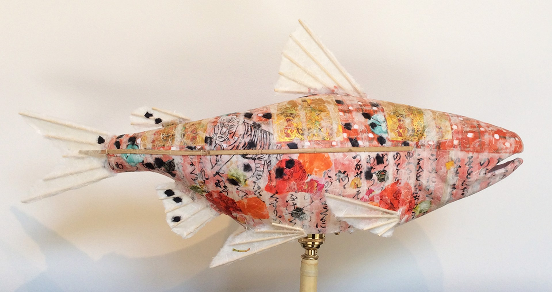 Lively Red on Red Salmon by Elaine Hanowell