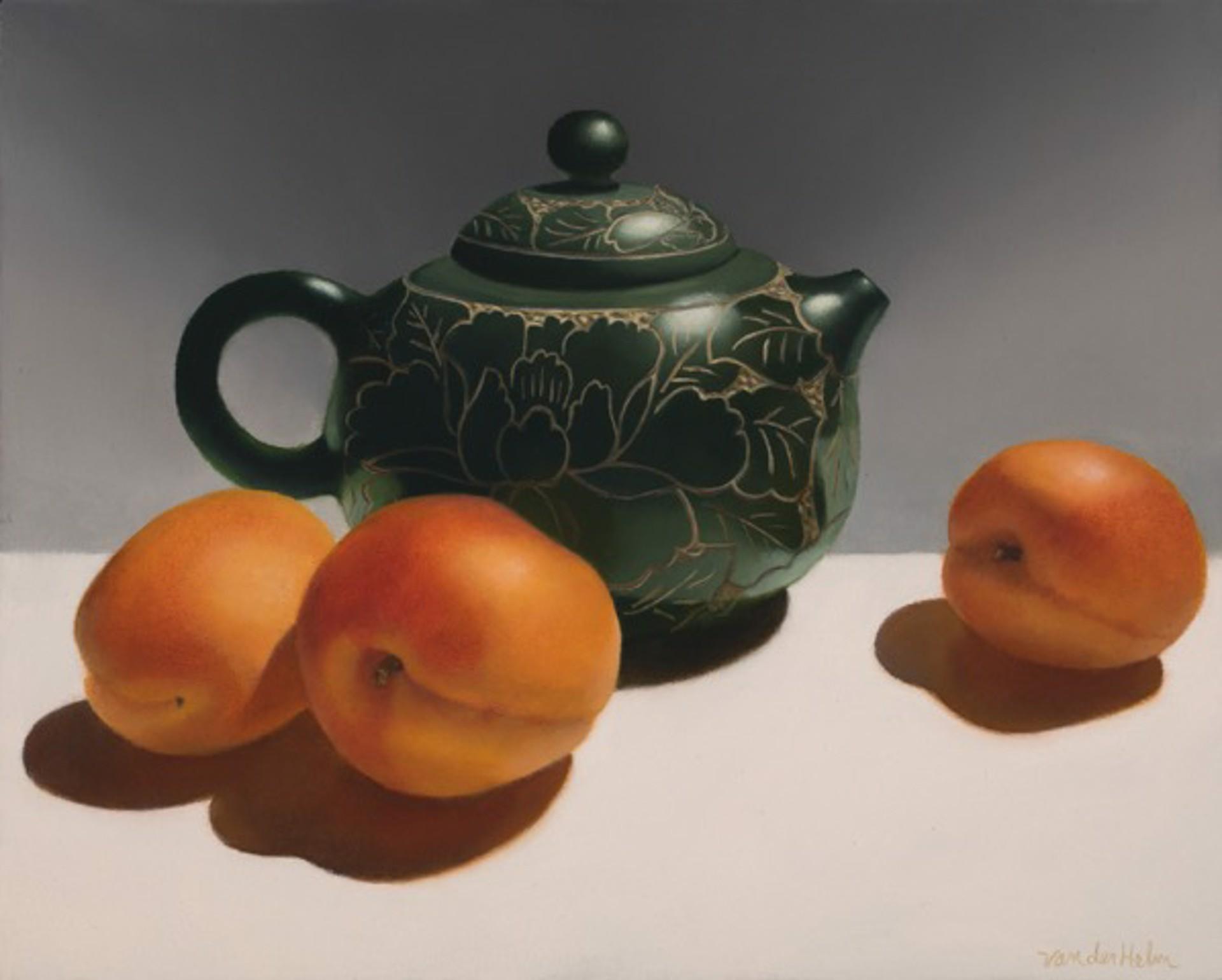 Teapot with Apricots by Sarah van der Helm