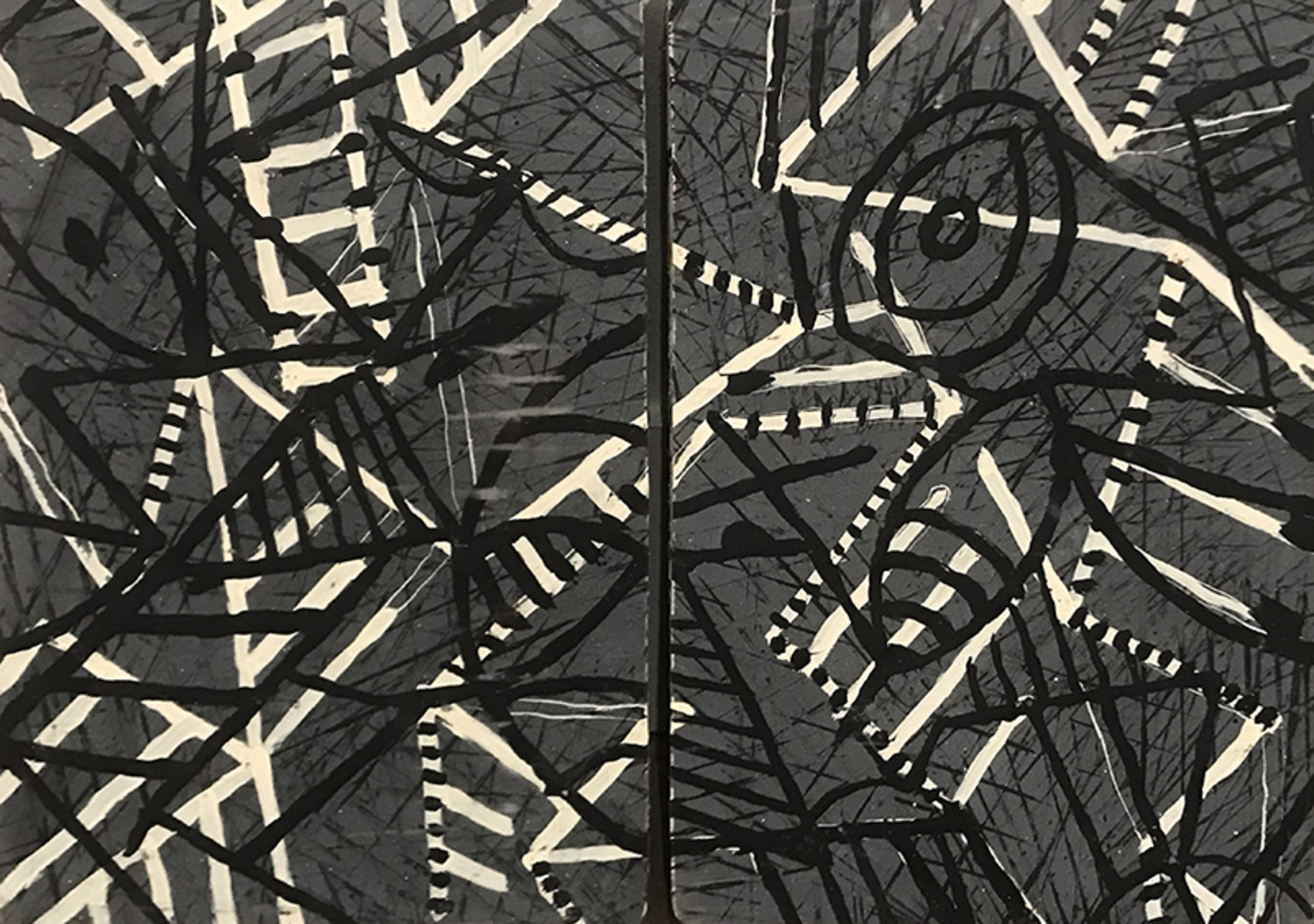 Untitled Diptych by Ibsen Espada