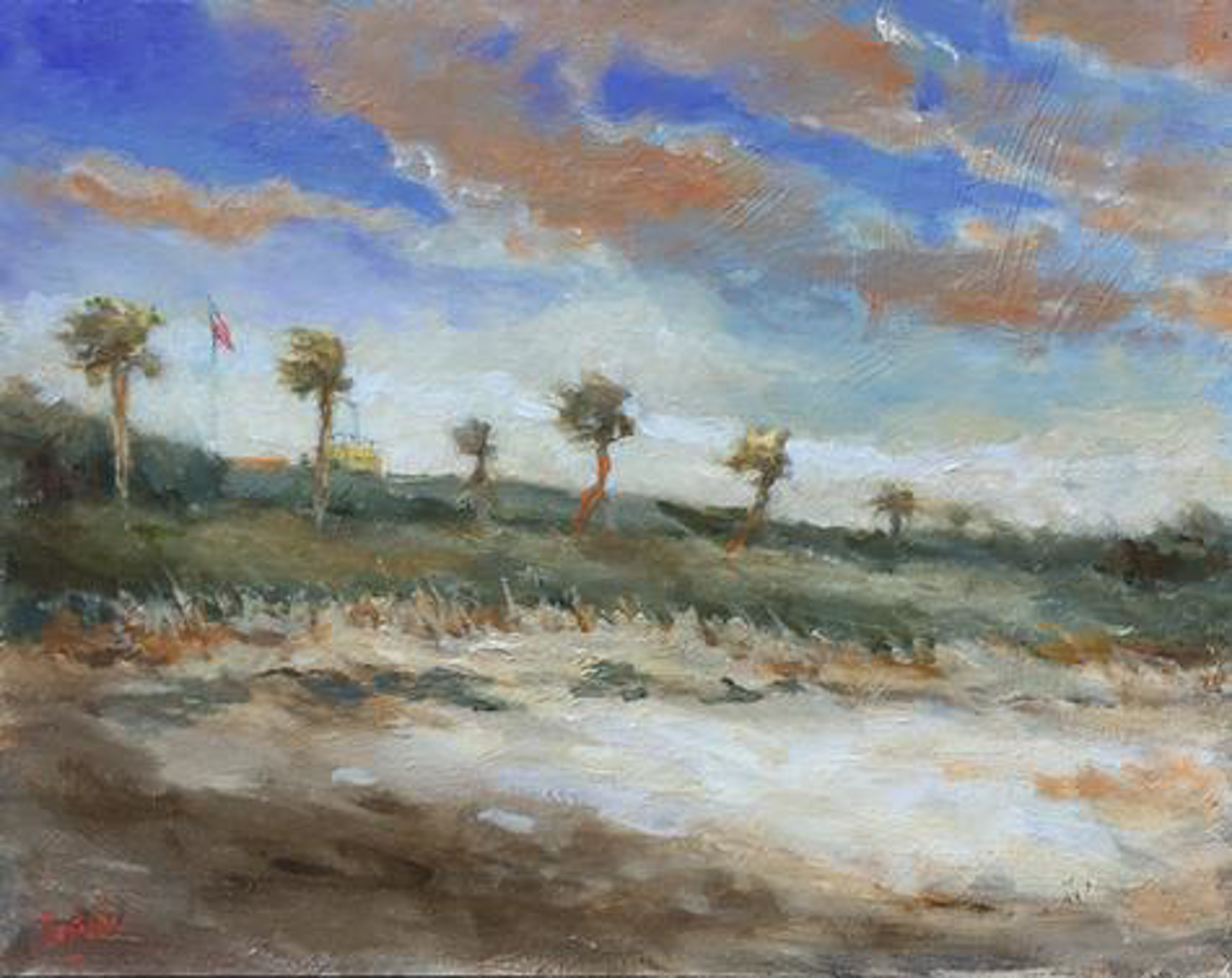 View of Moultrie on a Windy Day by Jim Darlington
