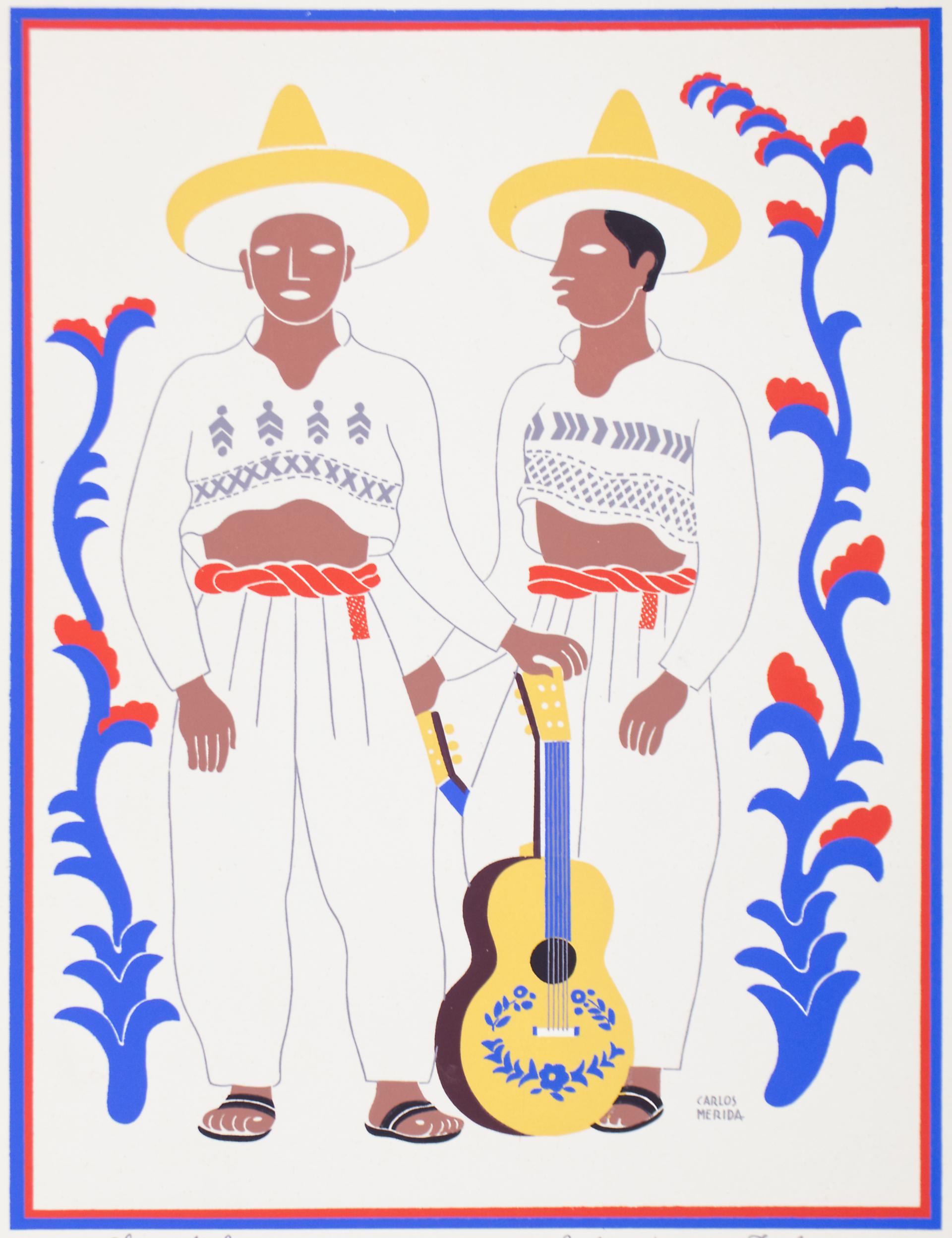 Chontales. Estado De Tabasco. (Framed) by Carlos Mérida (1891 - 1985)