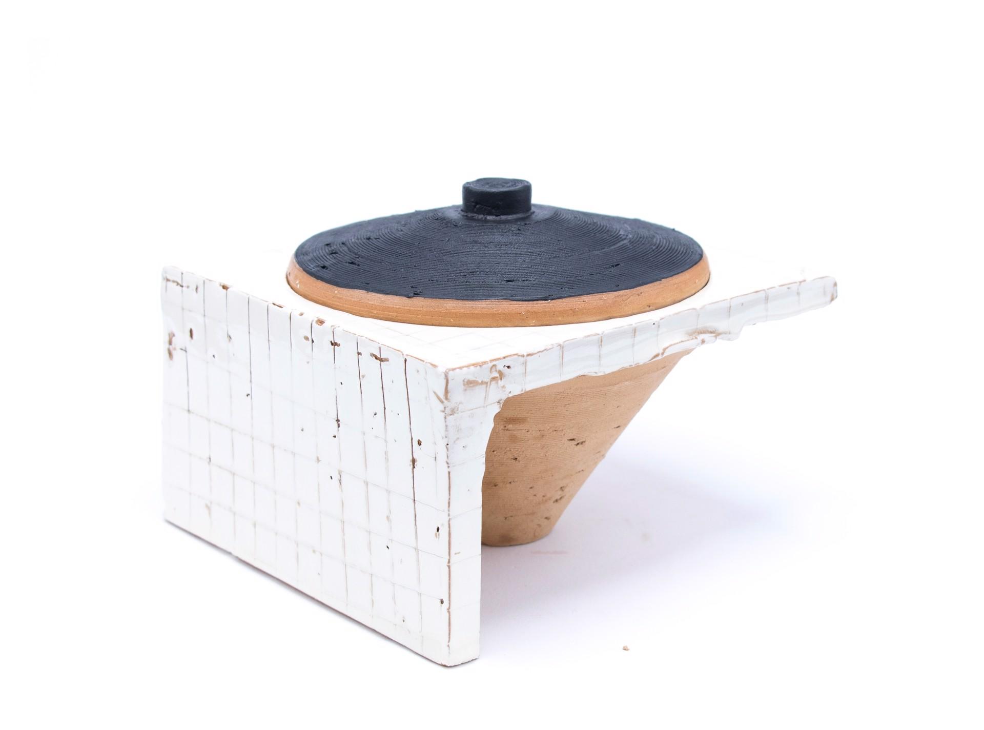 Lidded Jar (10) by Zak Helenske