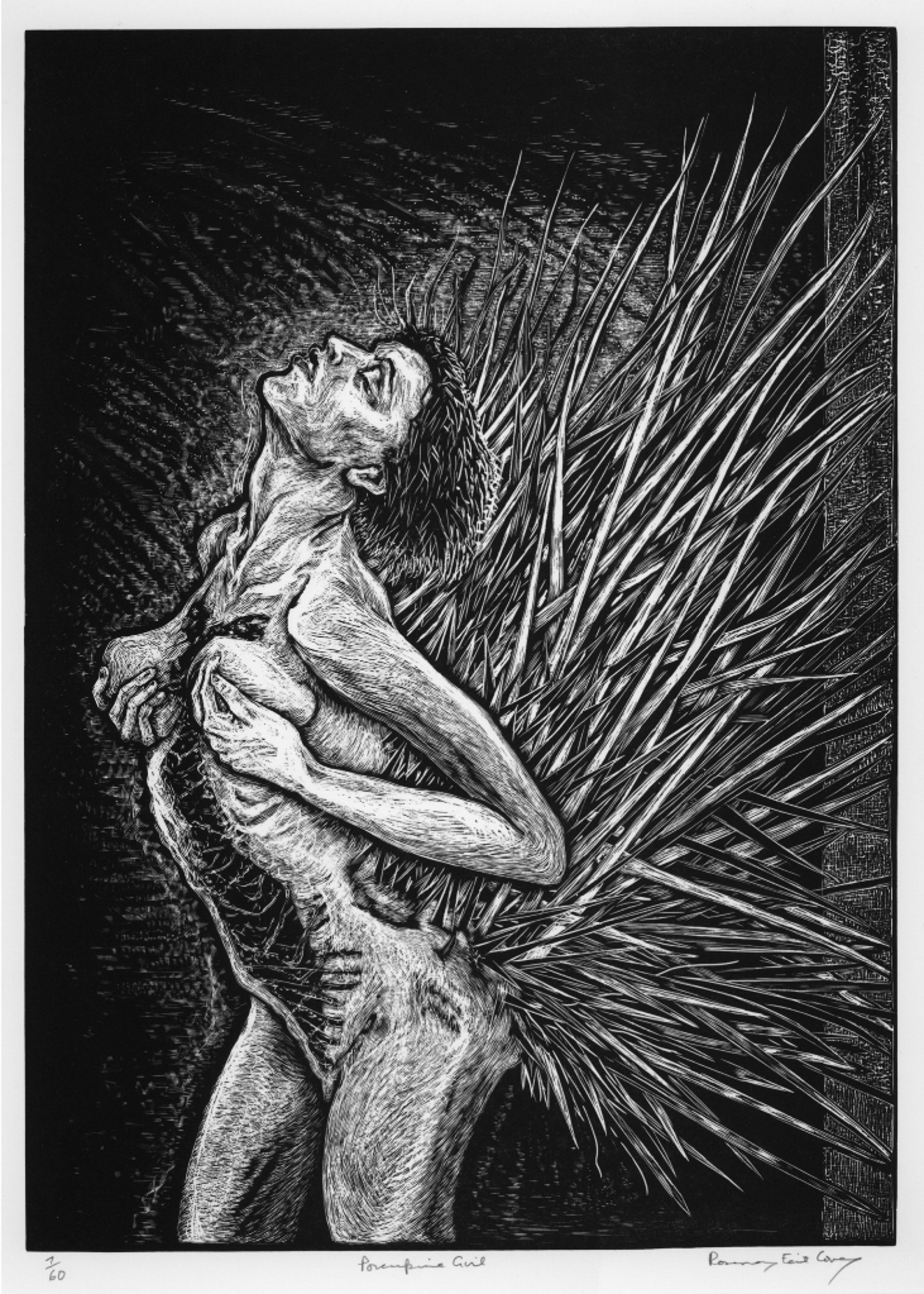 Porcupine Girl (Standing) by Rosemary Feit Covey