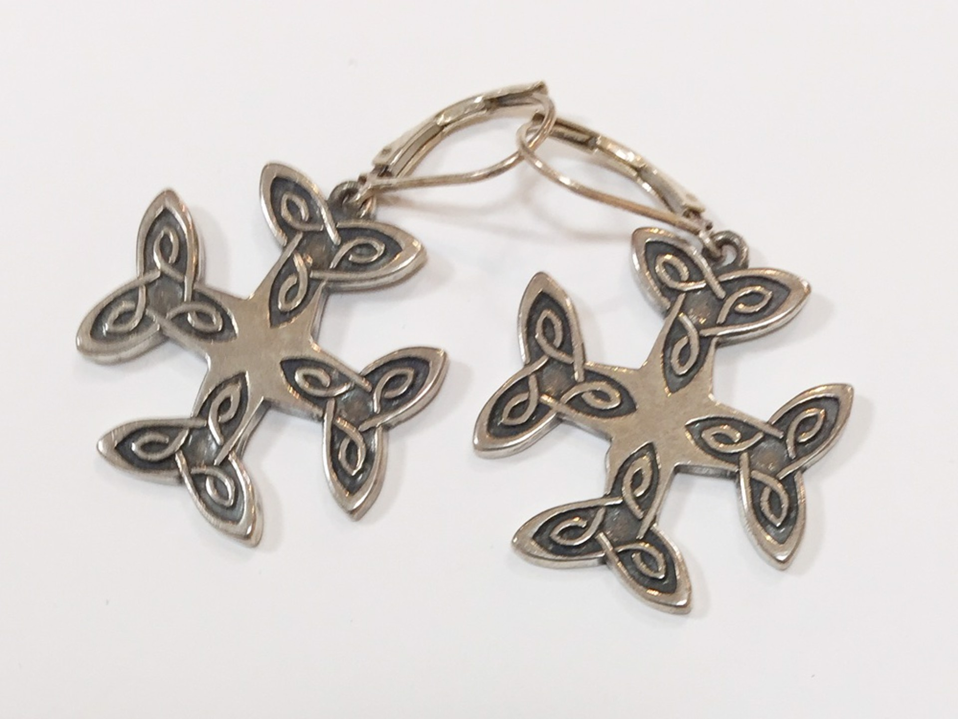 Earrings - Silver Cross Of The Blessed Virgin Mary 7307 by Deanne McKeown