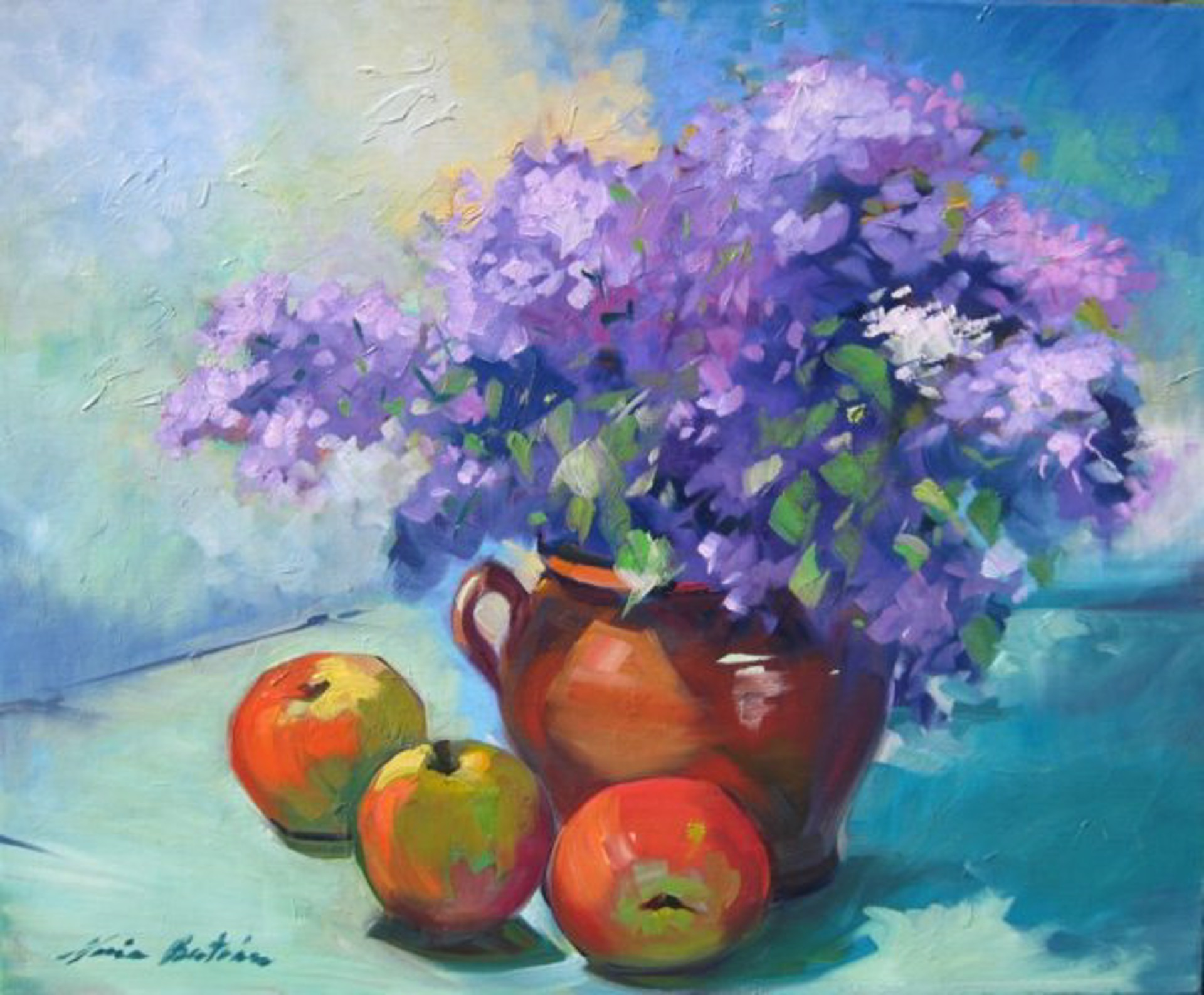 Purple Hydrangeas by Maria Bertrán