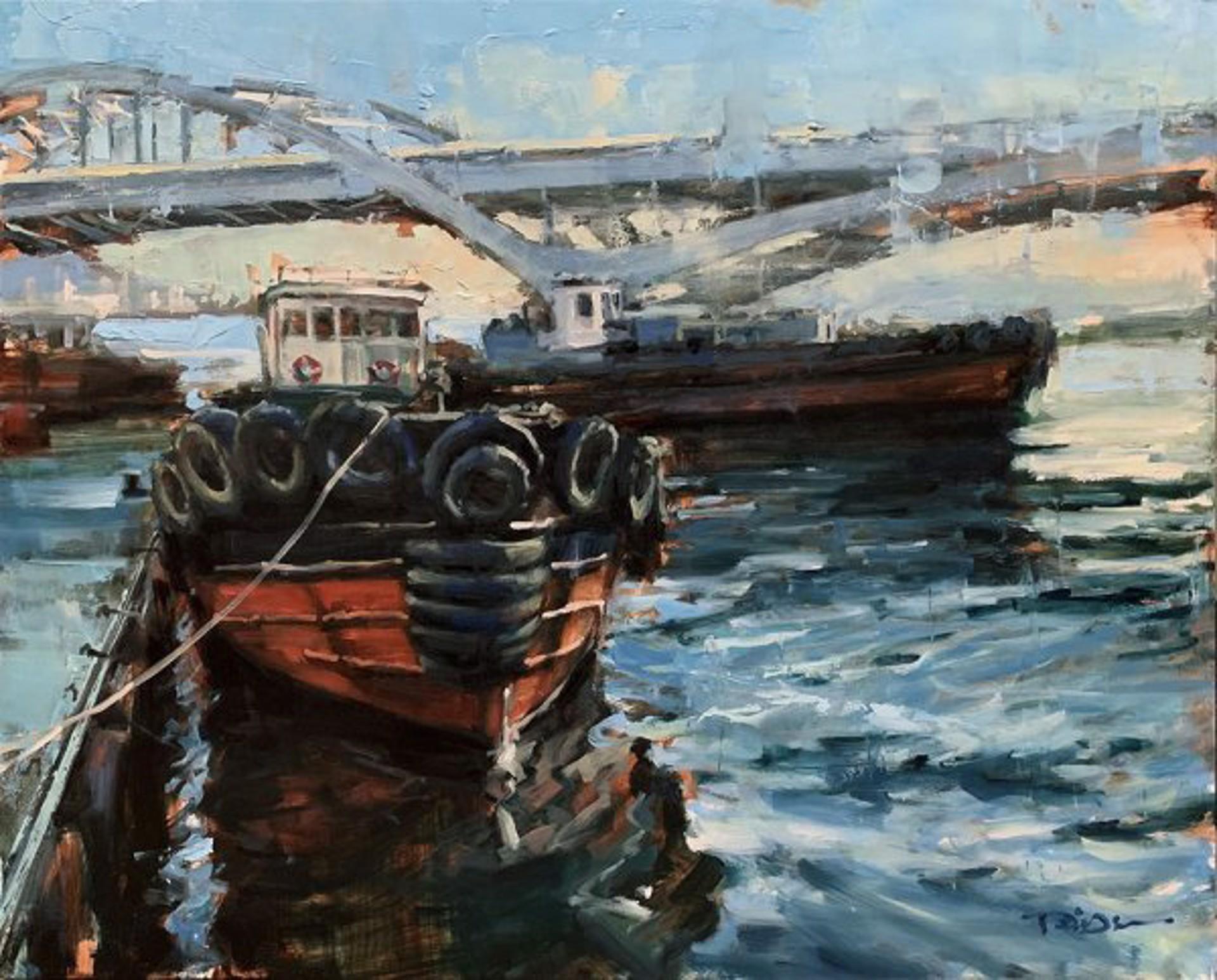 Pil Ho Lee: Busan Boat by Pil Ho Lee