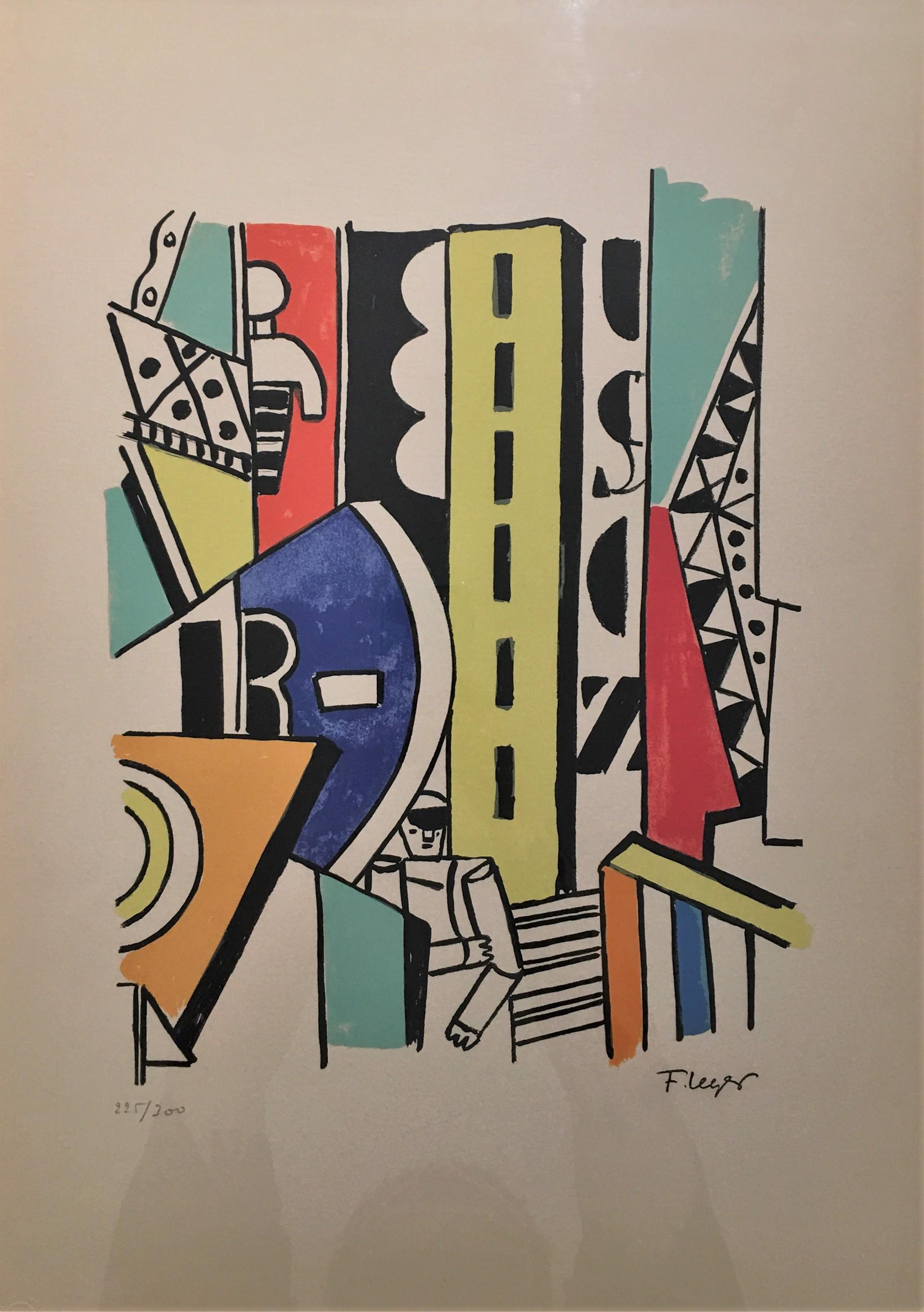 L'homme dans la ville  by After Fernand Leger
