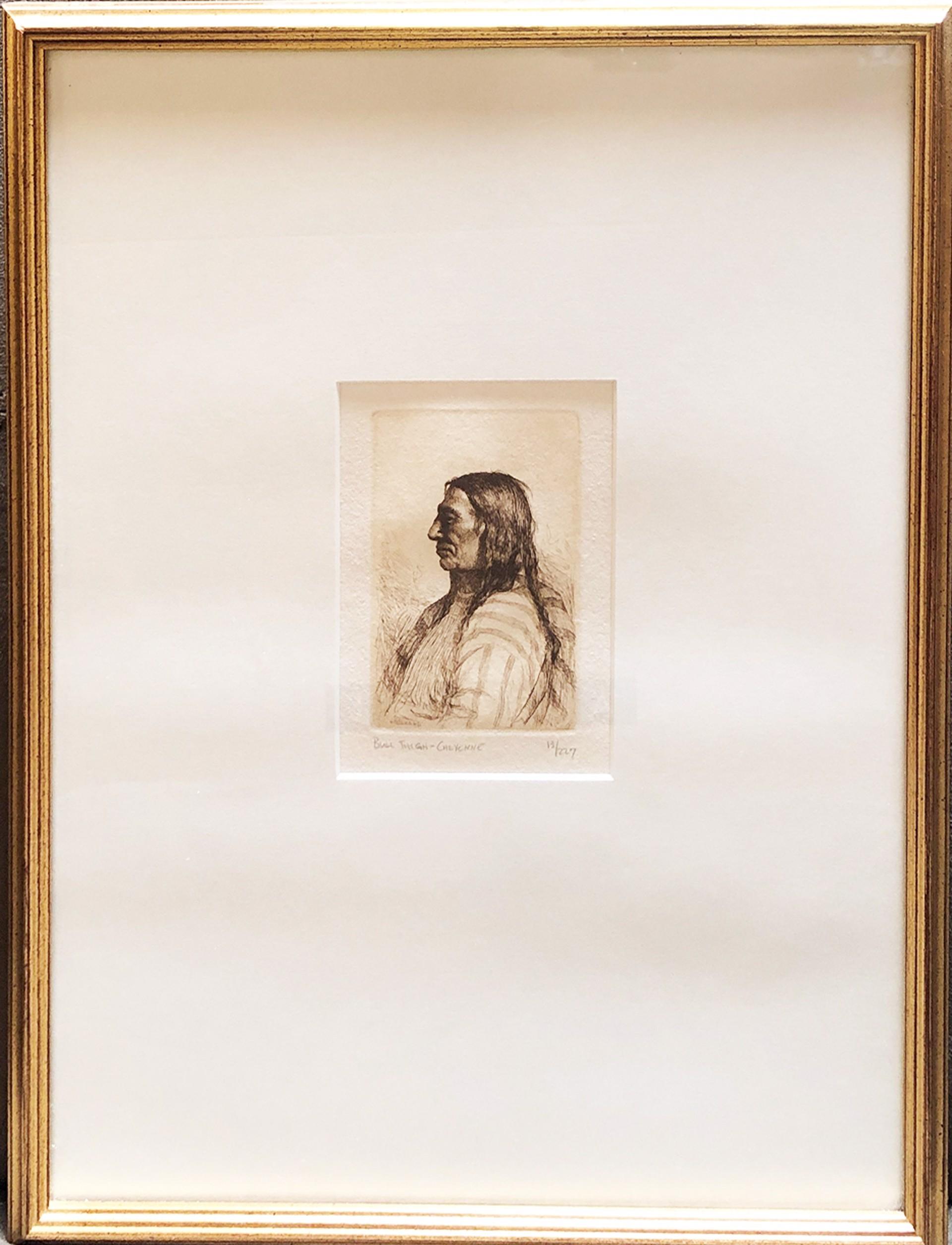 Bull Thigh-Cheyenne by Joseph Sharp