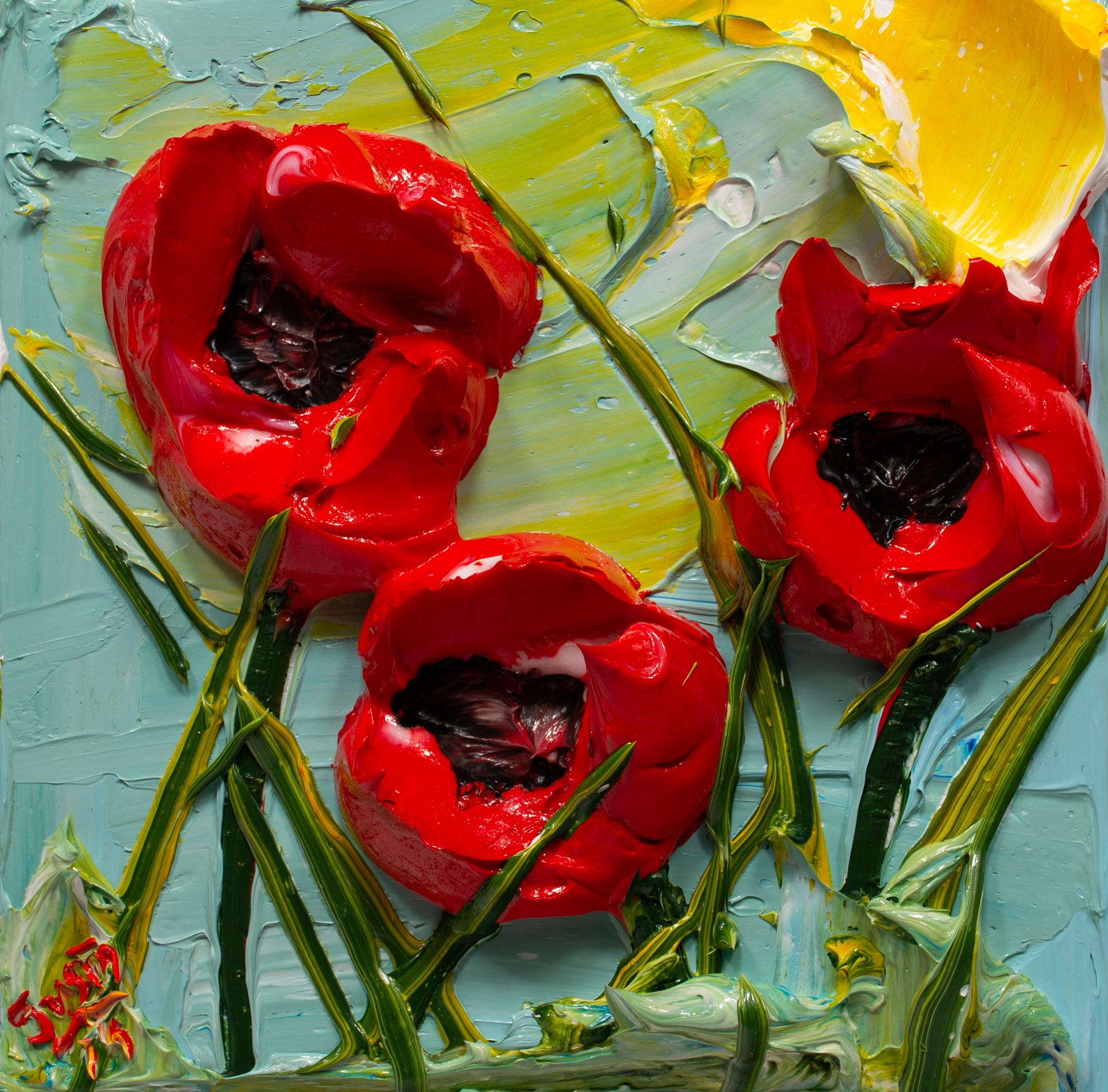 POPPY FLOWERS-PF-12X12-2019-178 by JUSTIN GAFFREY