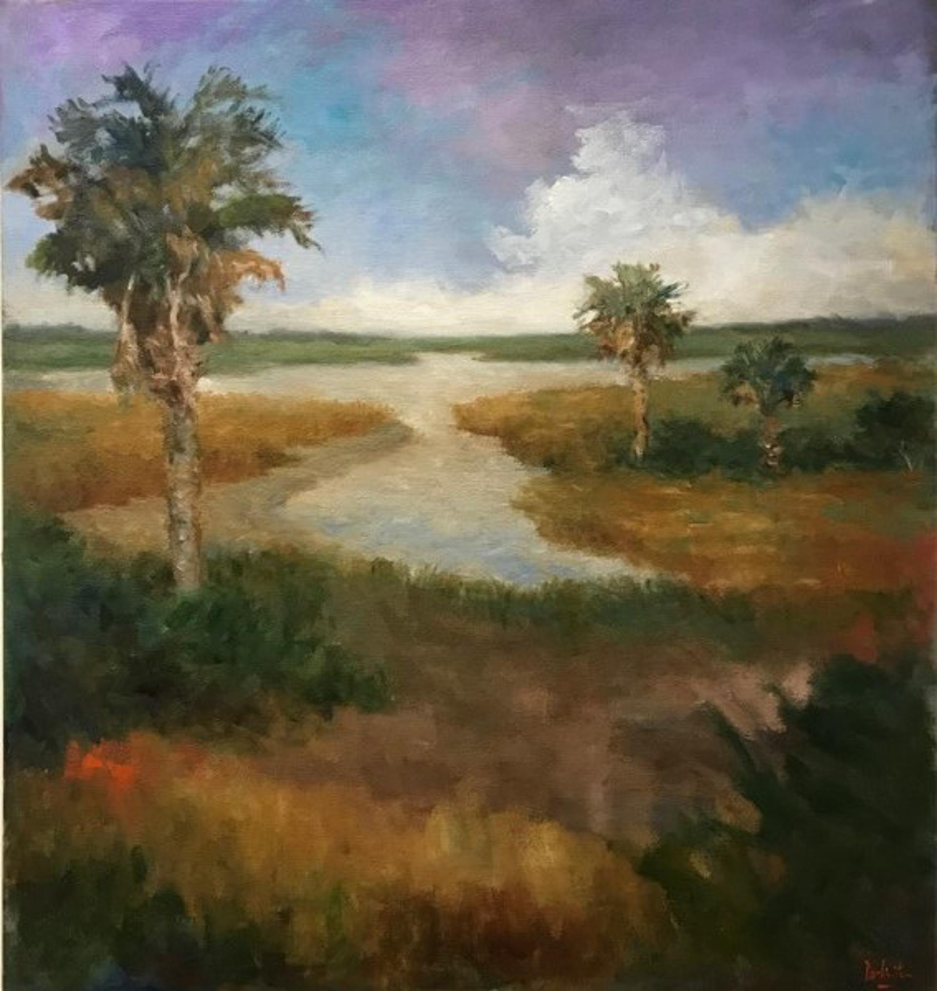 Winding Through Under Blue and Purple Sky by Jim Darlington