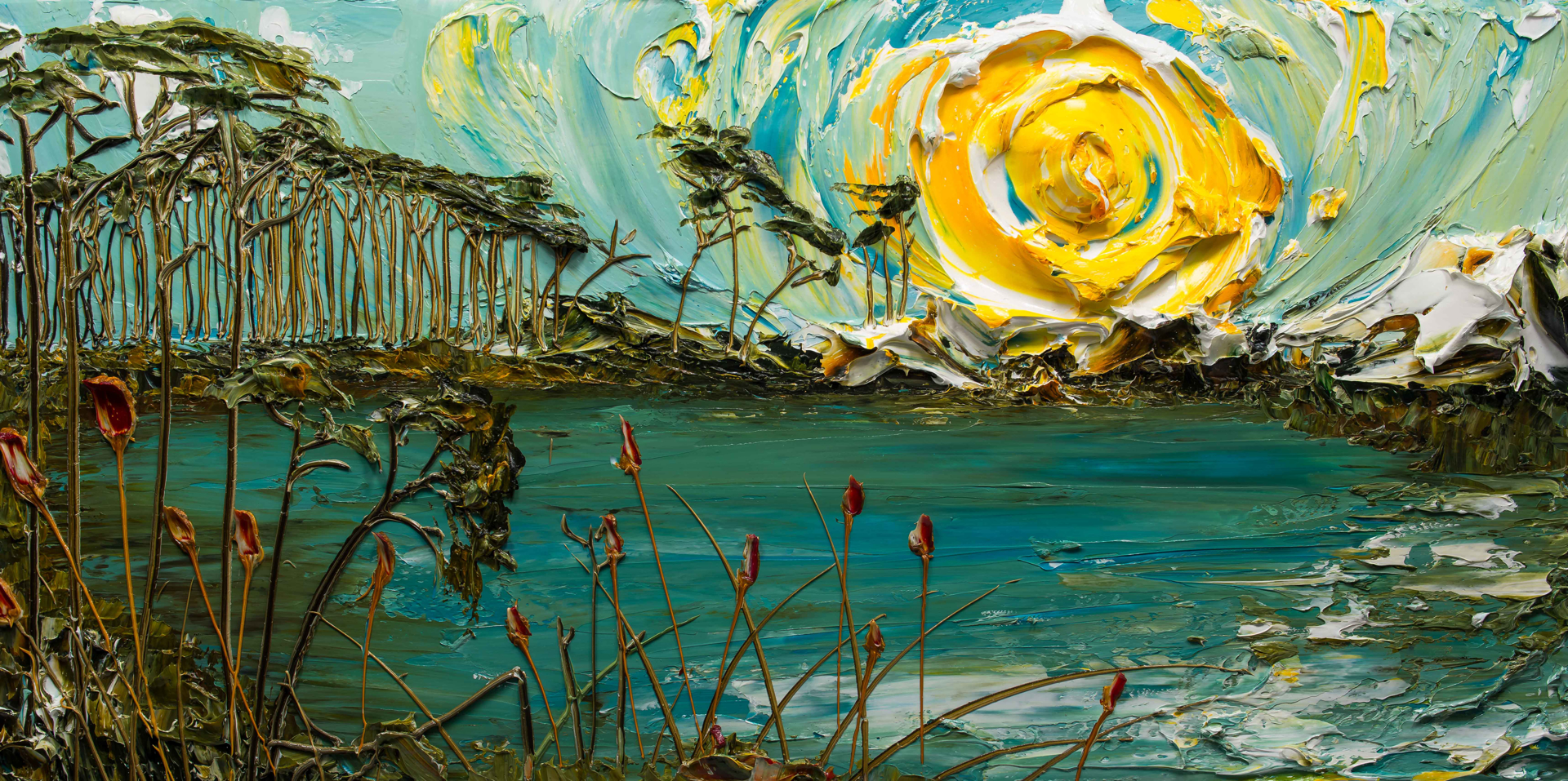 Lakescape -SS-60X30-2019-156 by JUSTIN GAFFREY