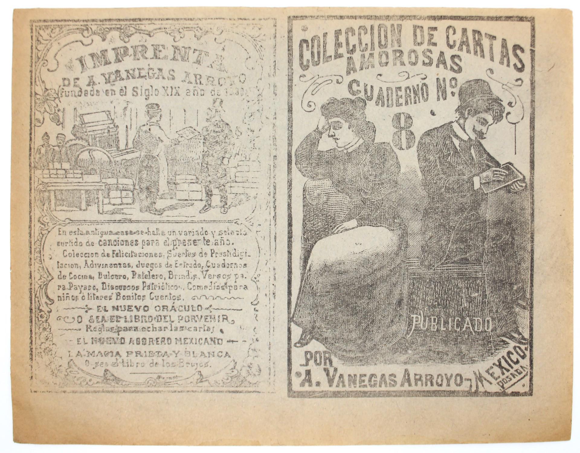 Coleccion de Cartas Amorosas, Cuaderno 8 by José Guadalupe Posada (1852 - 1913)