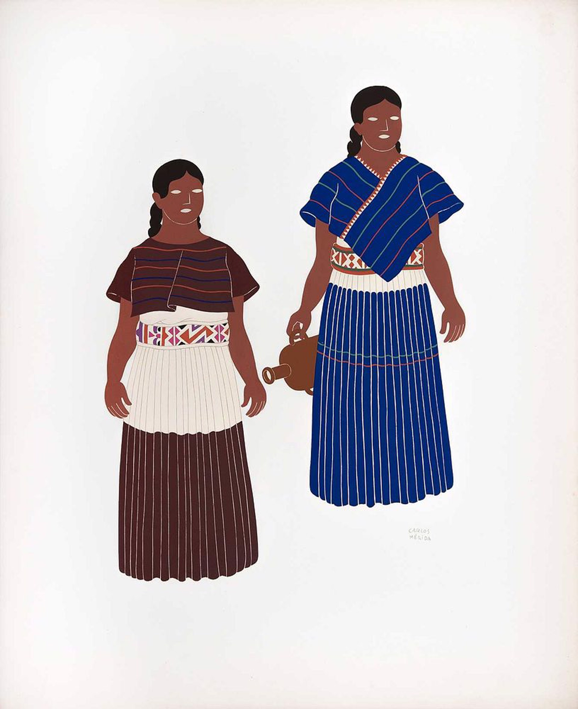 Otomies of the States of Hidalgo, Mexico, Tlaxcala, and Puebla by Carlos Mérida (1891 - 1985)