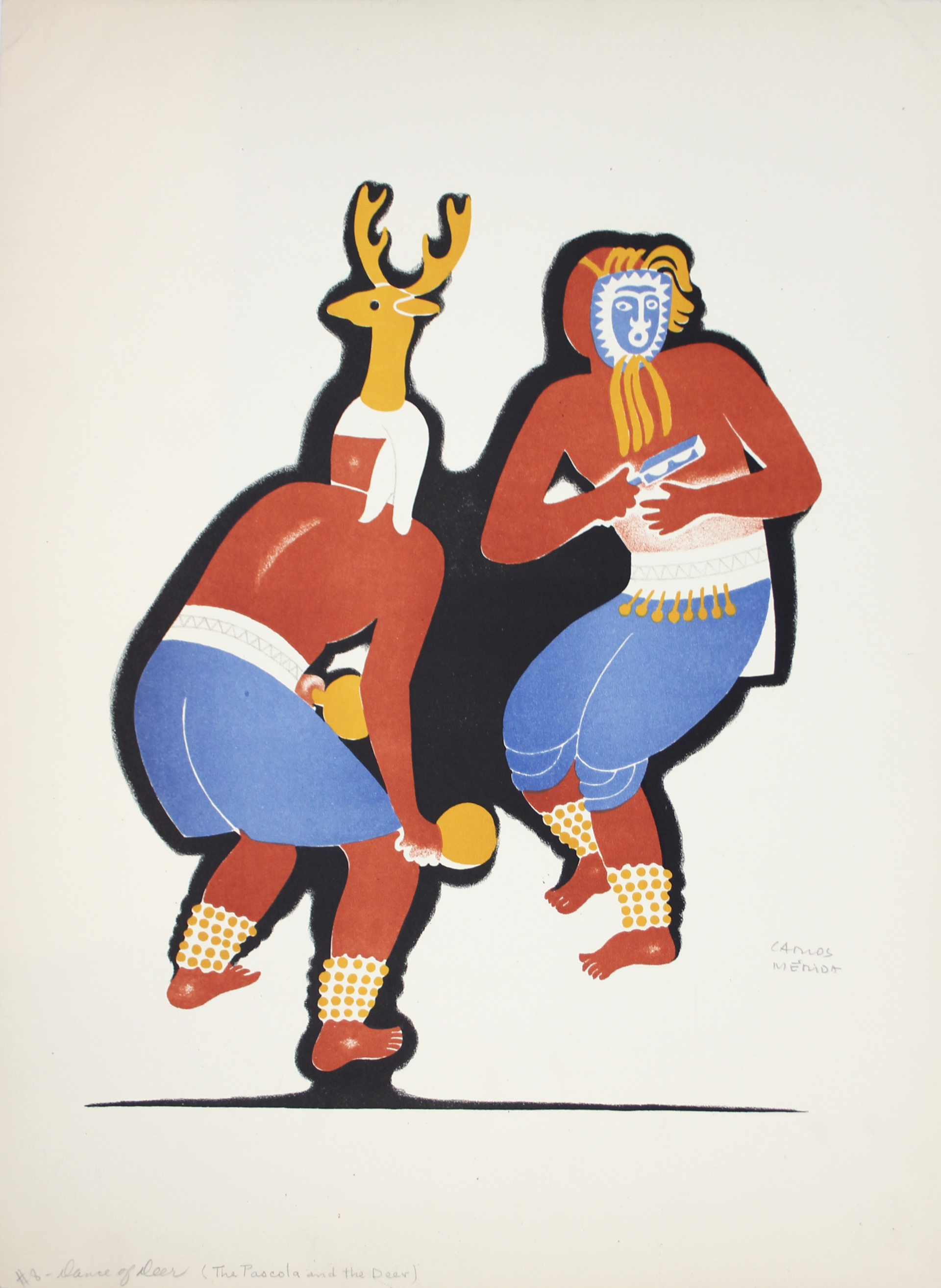 The Pascola and the Deer by Carlos Mérida (1891 - 1985)