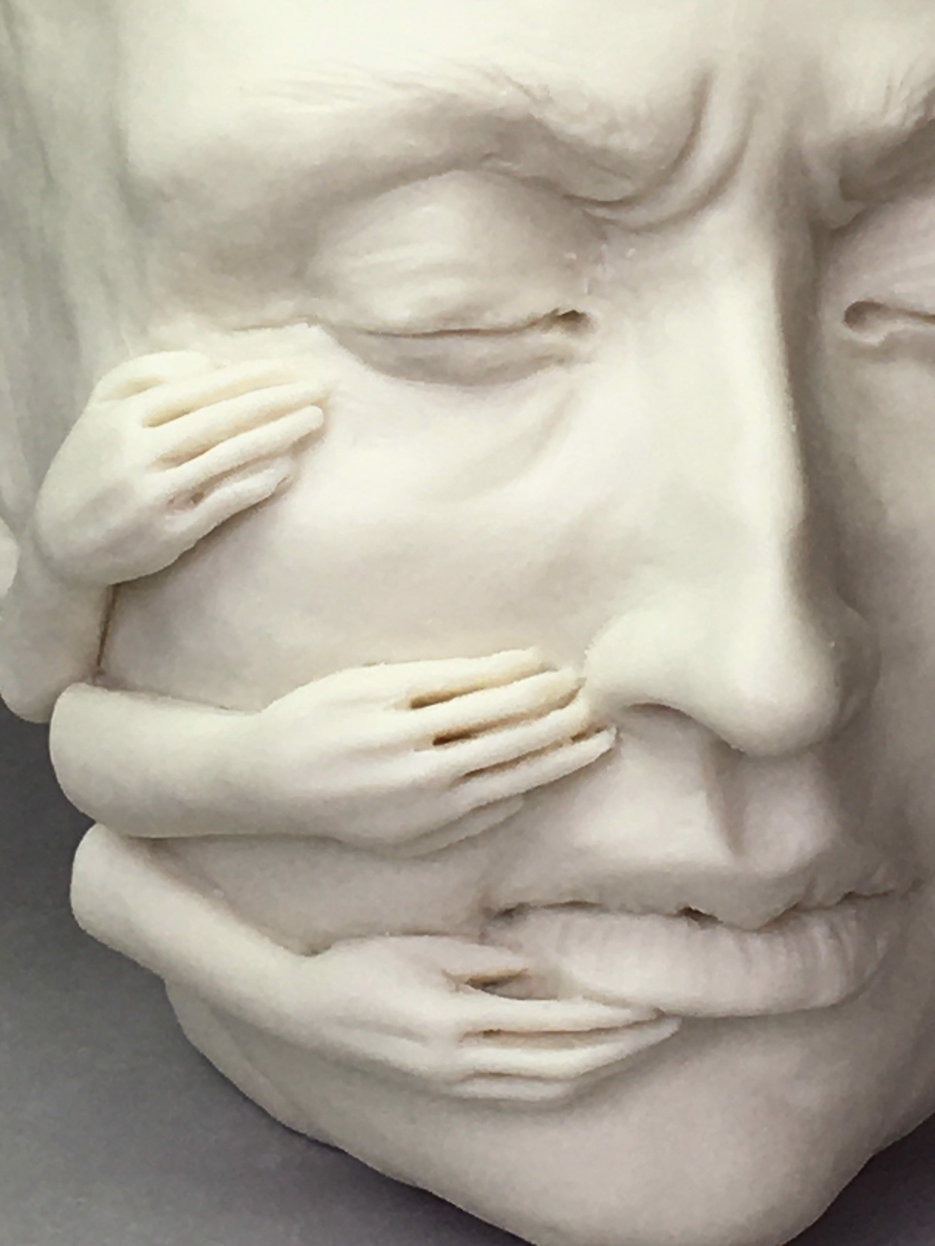 """""""#DontDoThat II"""" (3 hands right side of face) by Adrian Arleo"""