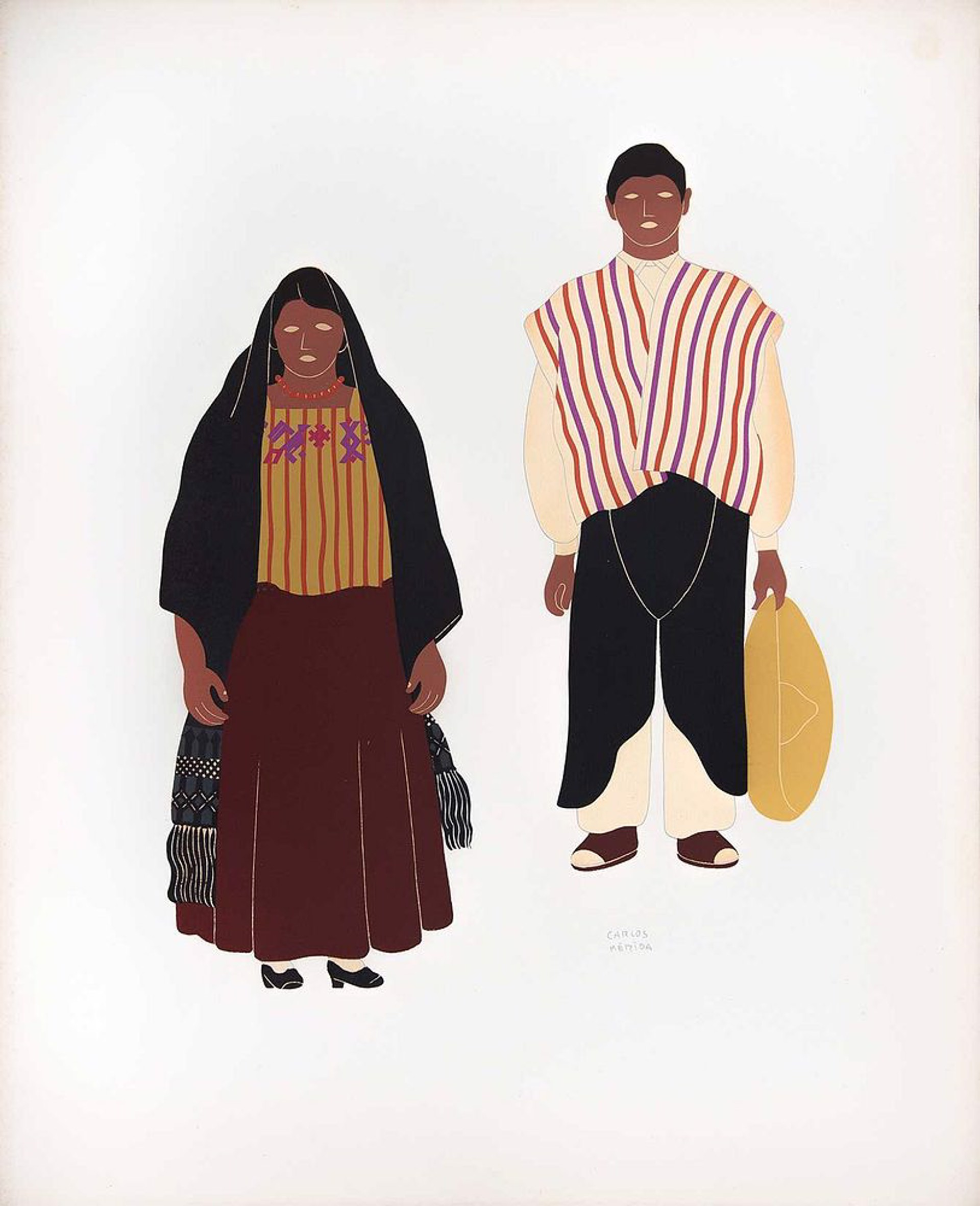 Aztecs of the State of Mexico by Carlos Mérida (1891 - 1985)