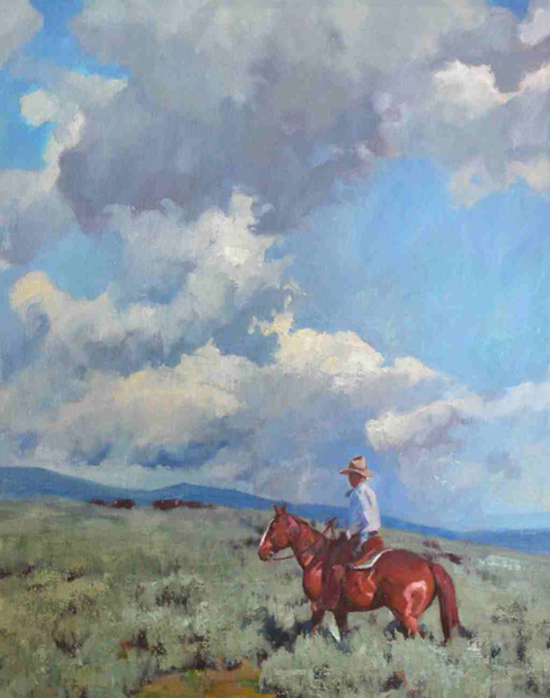 Clouds and a Sorrel by Charles Dayton