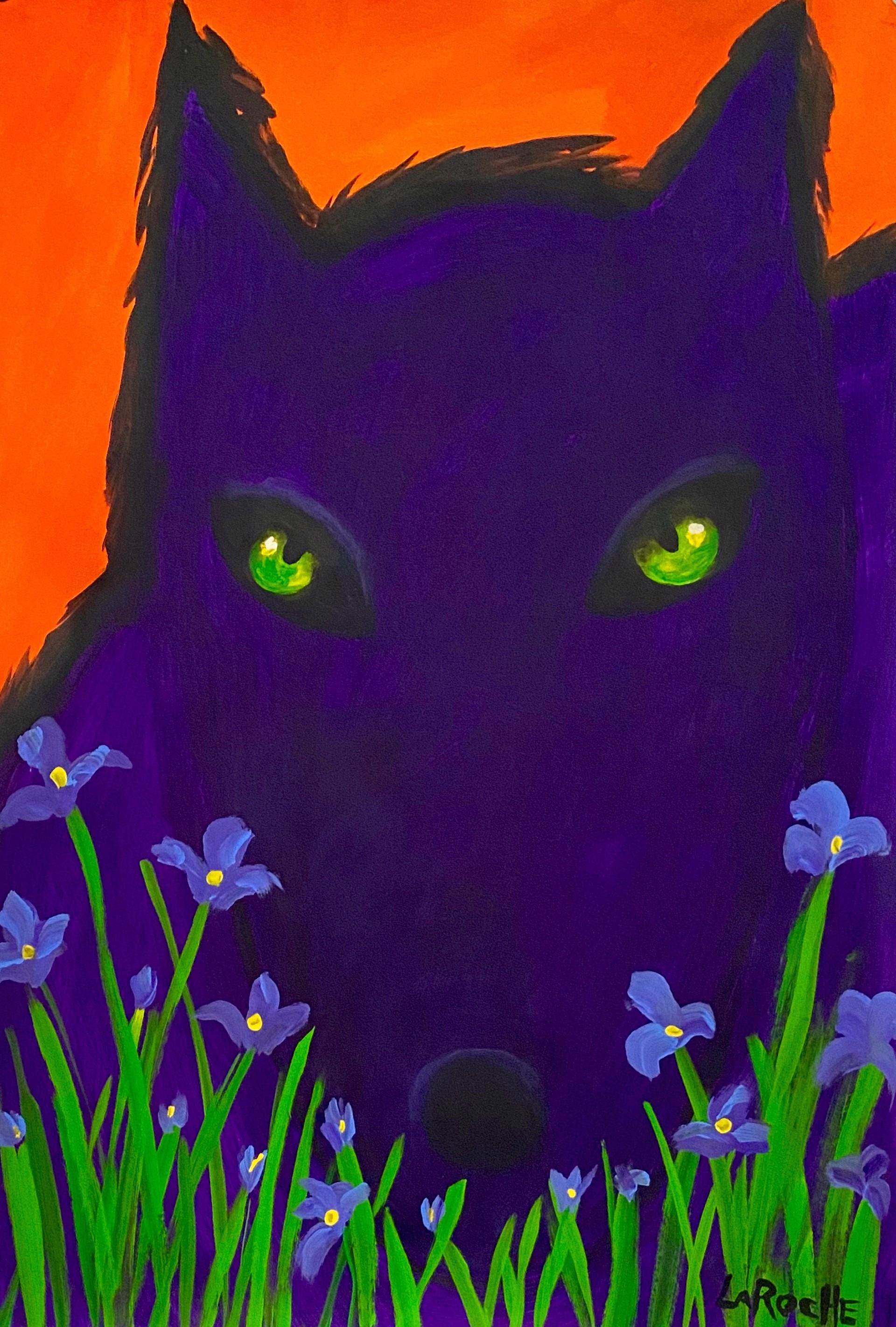 In the Garden: Regal Wolf by Carole LaRoche