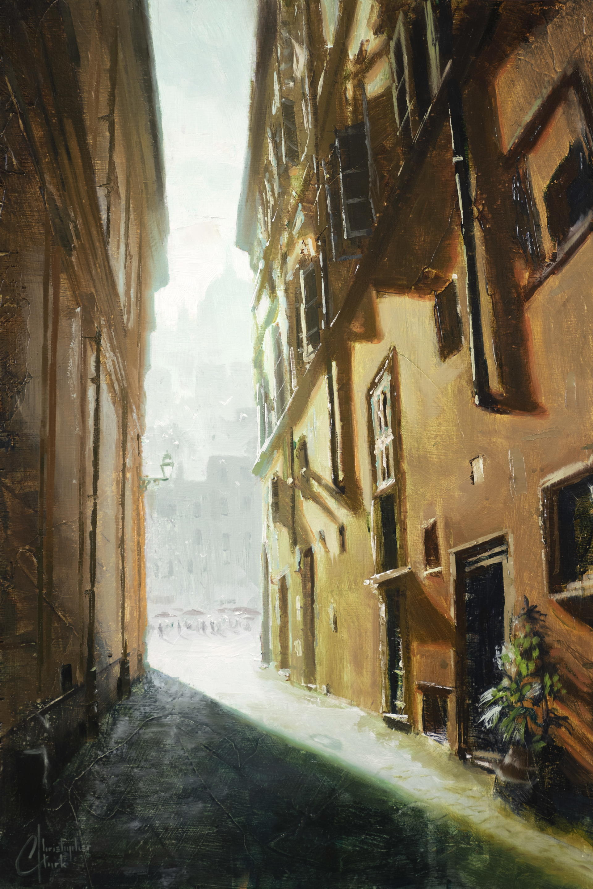 Rome Alleyway by Christopher Clark