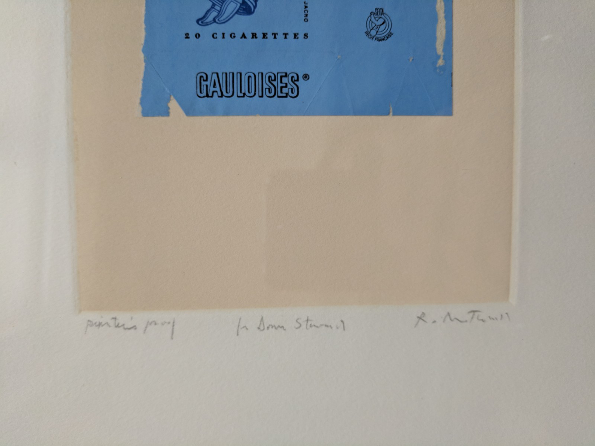 Gauloises Bleues by Robert Motherwell