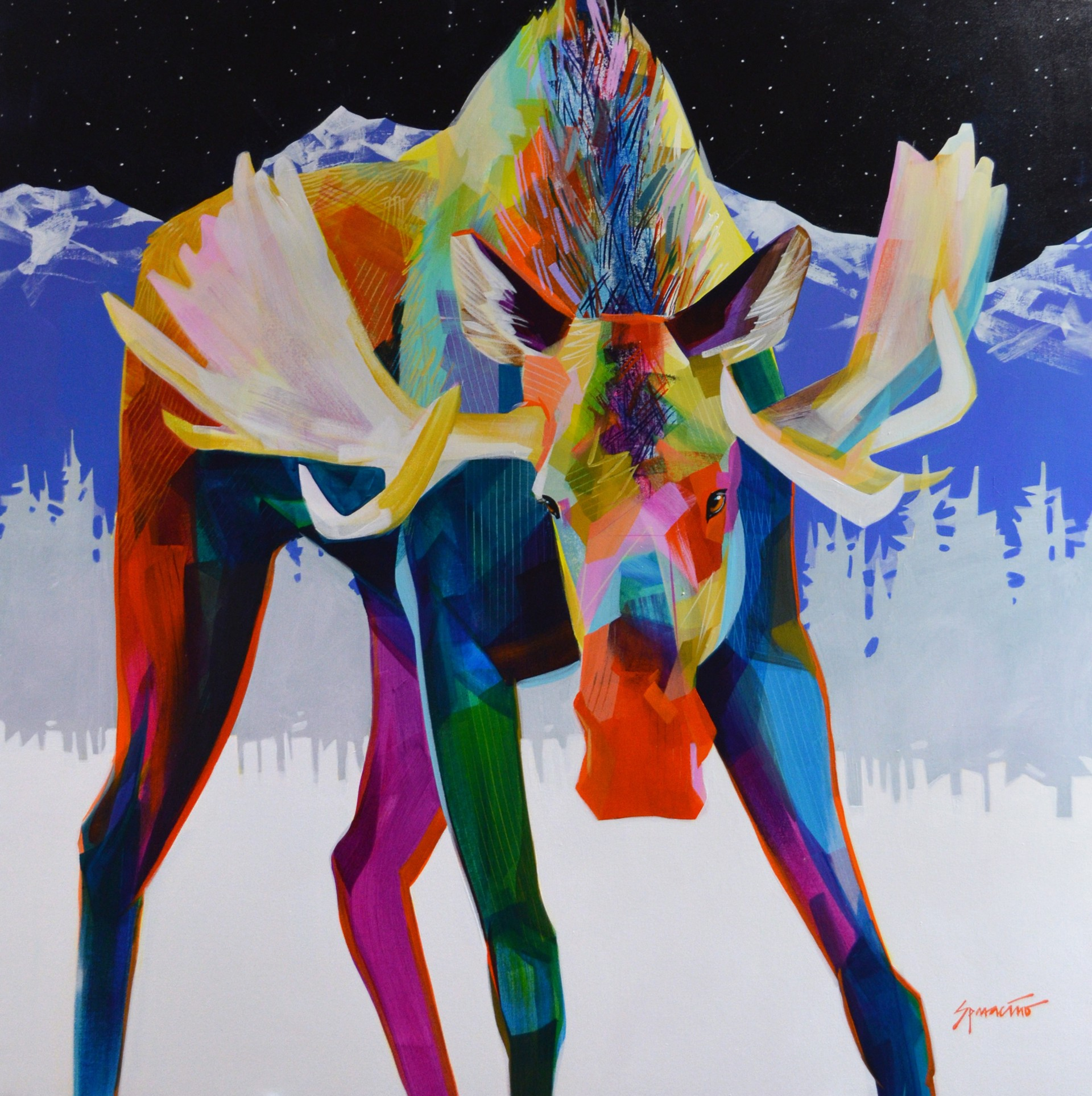 Winter Bull by JENNIFER SPARACINO