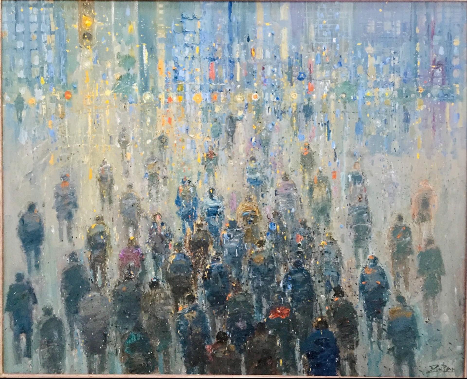 Crosswalk at Twilight by Bruno Zupan