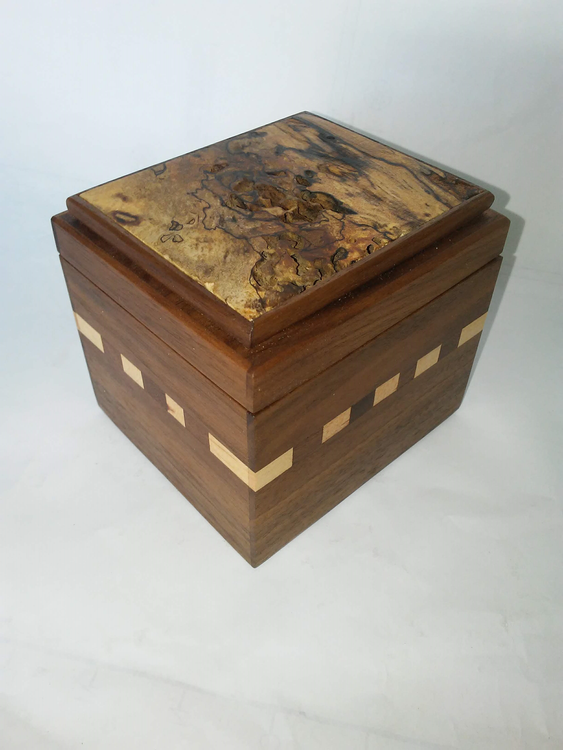 Box #25 Walnut, Maple & Spalted Birch by Pete Rock