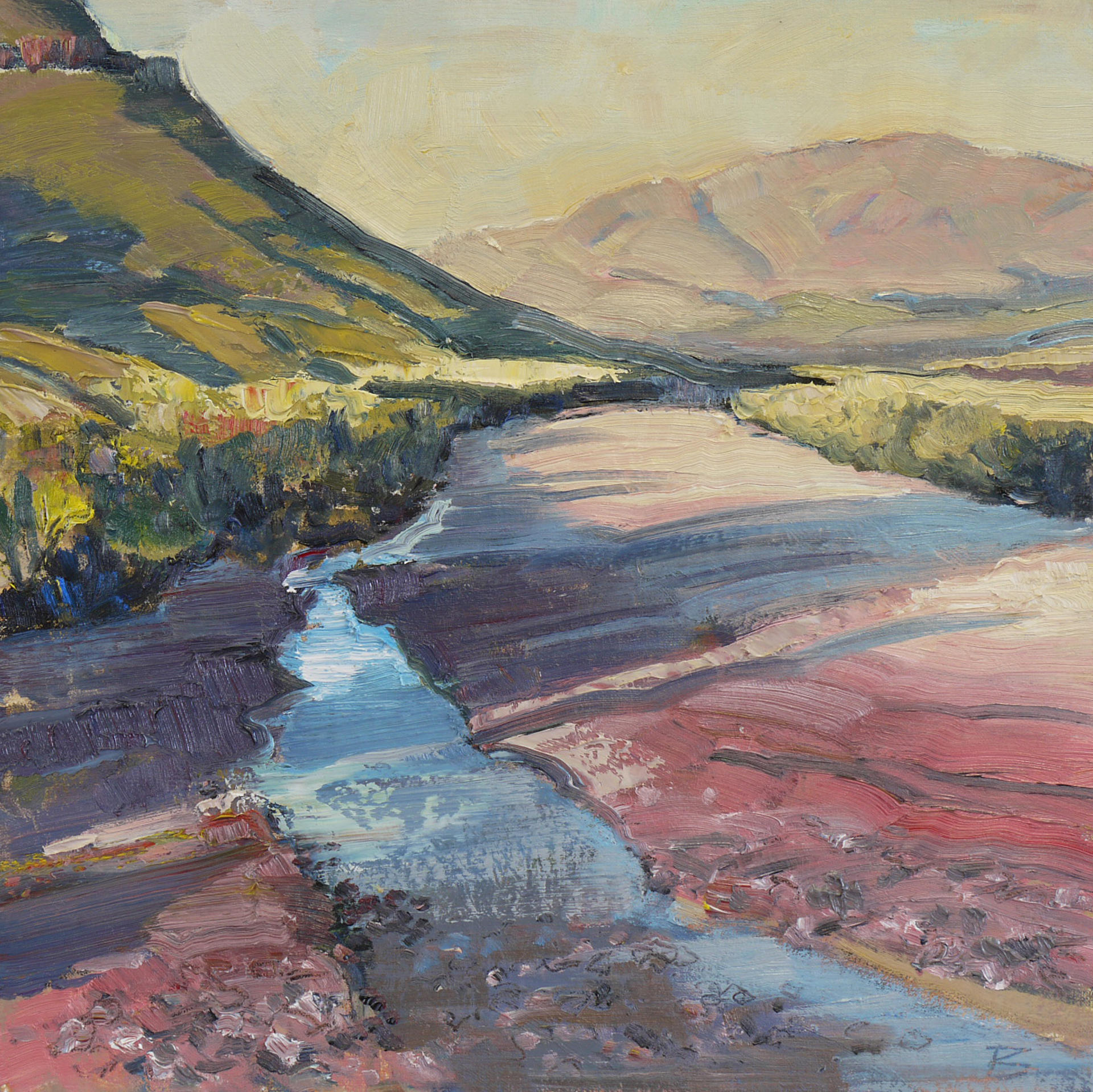 Study for Small Creek in a Canyon by Mary Baxter