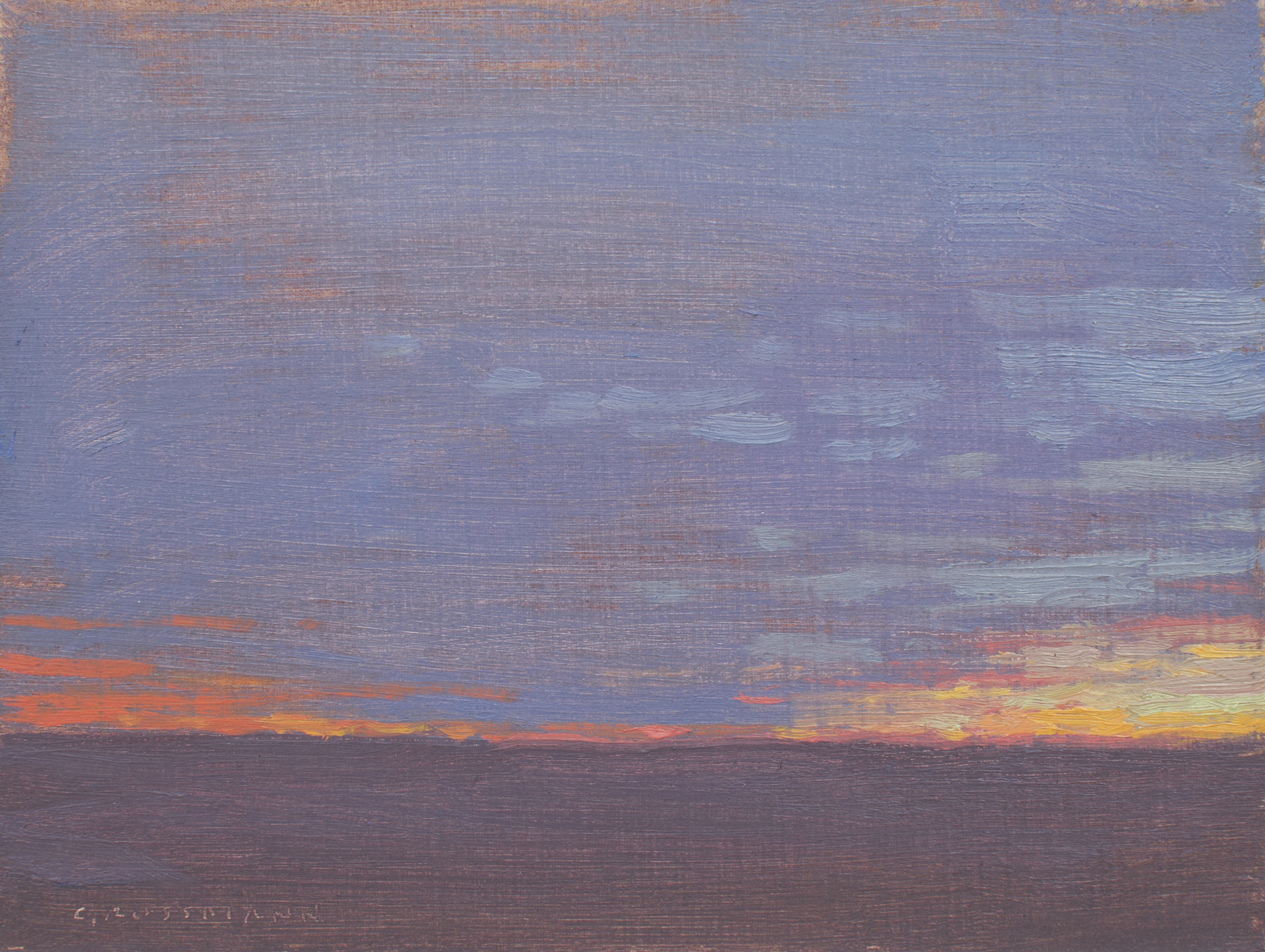 Winter Solstice Dusk by David Grossmann