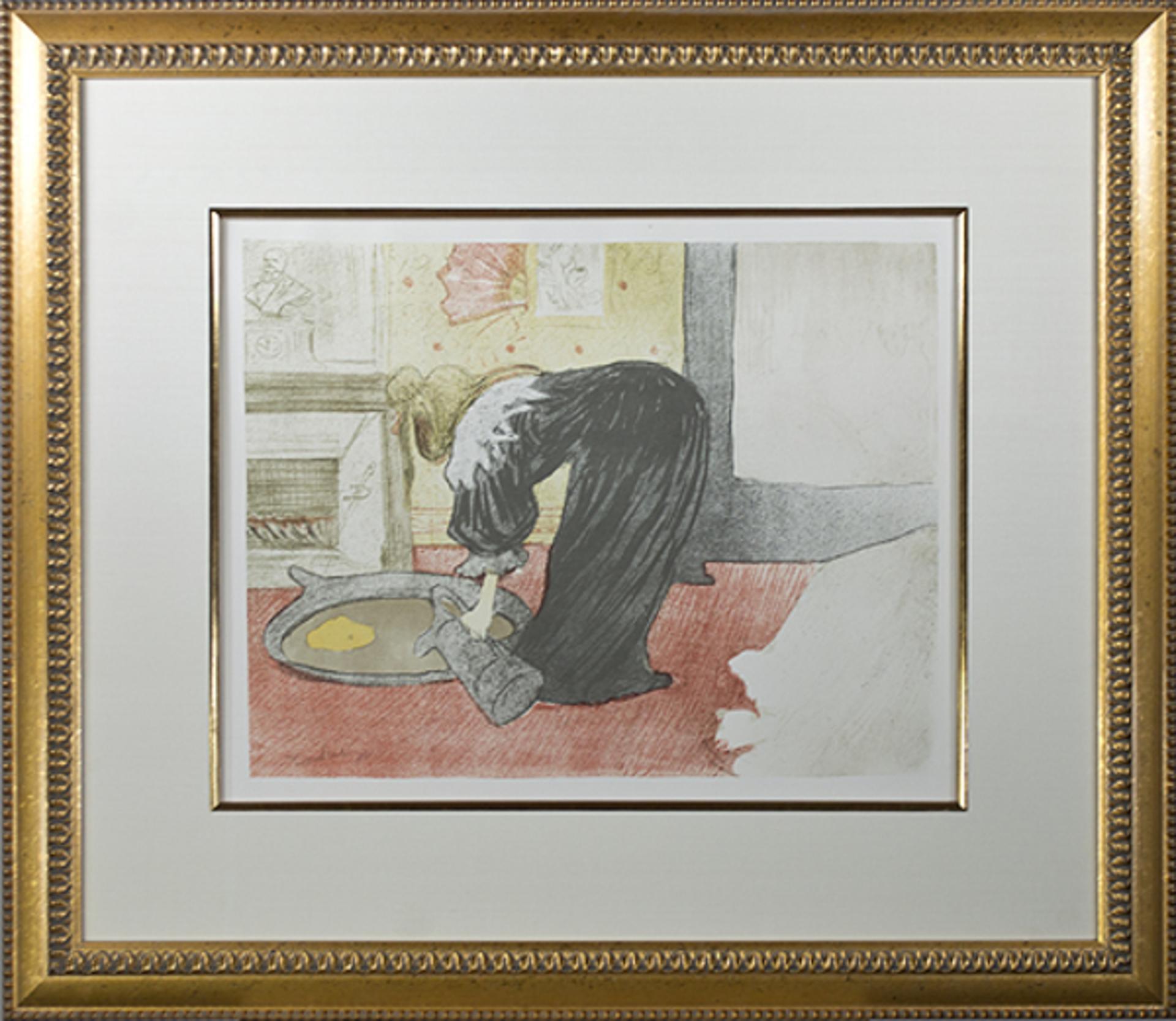 Femme au Tub-Le Tub by Henri de Toulouse-Lautrec