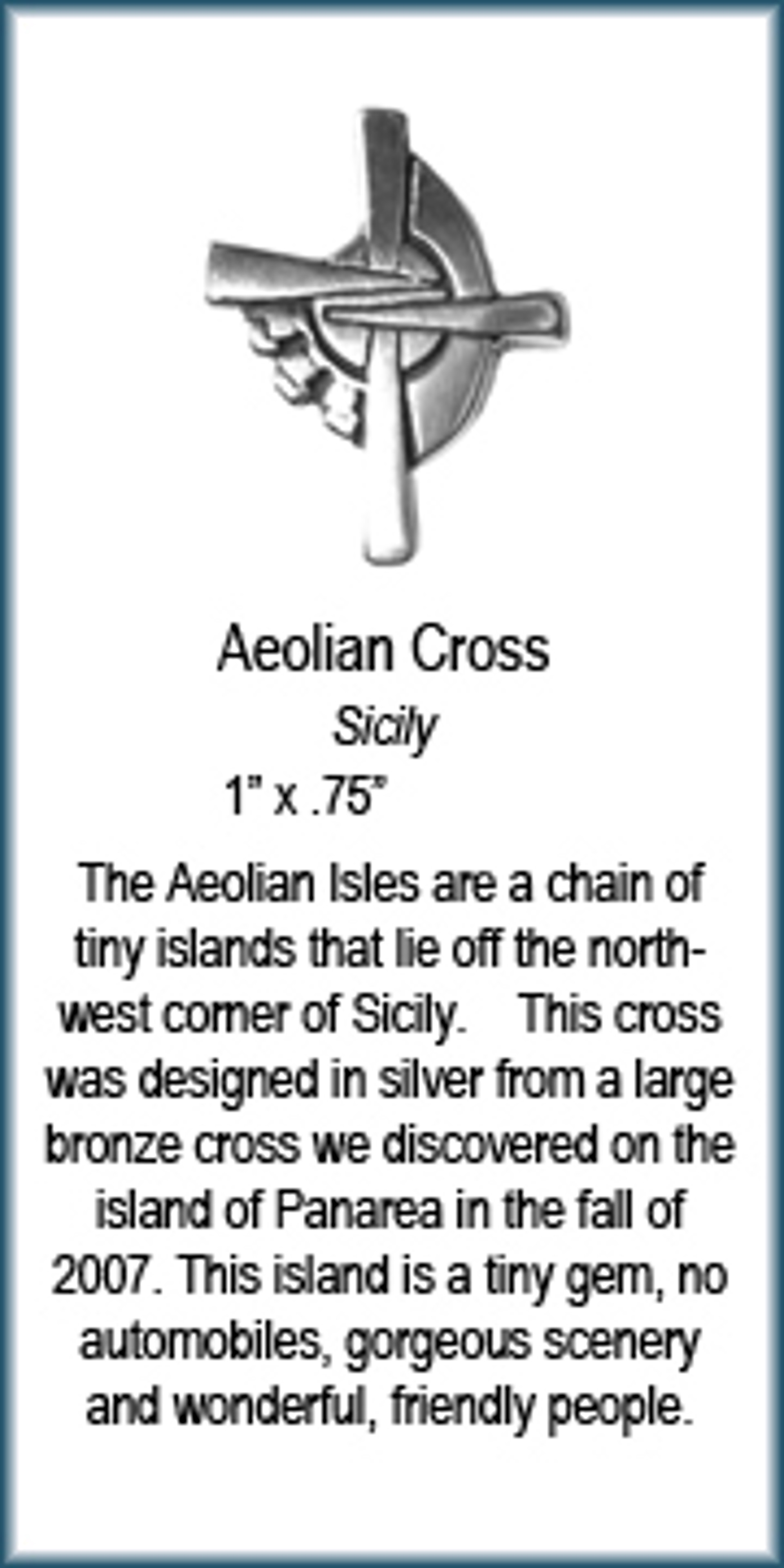 Pendant - Silver Aeolian Cross 8354 by Deanne McKeown