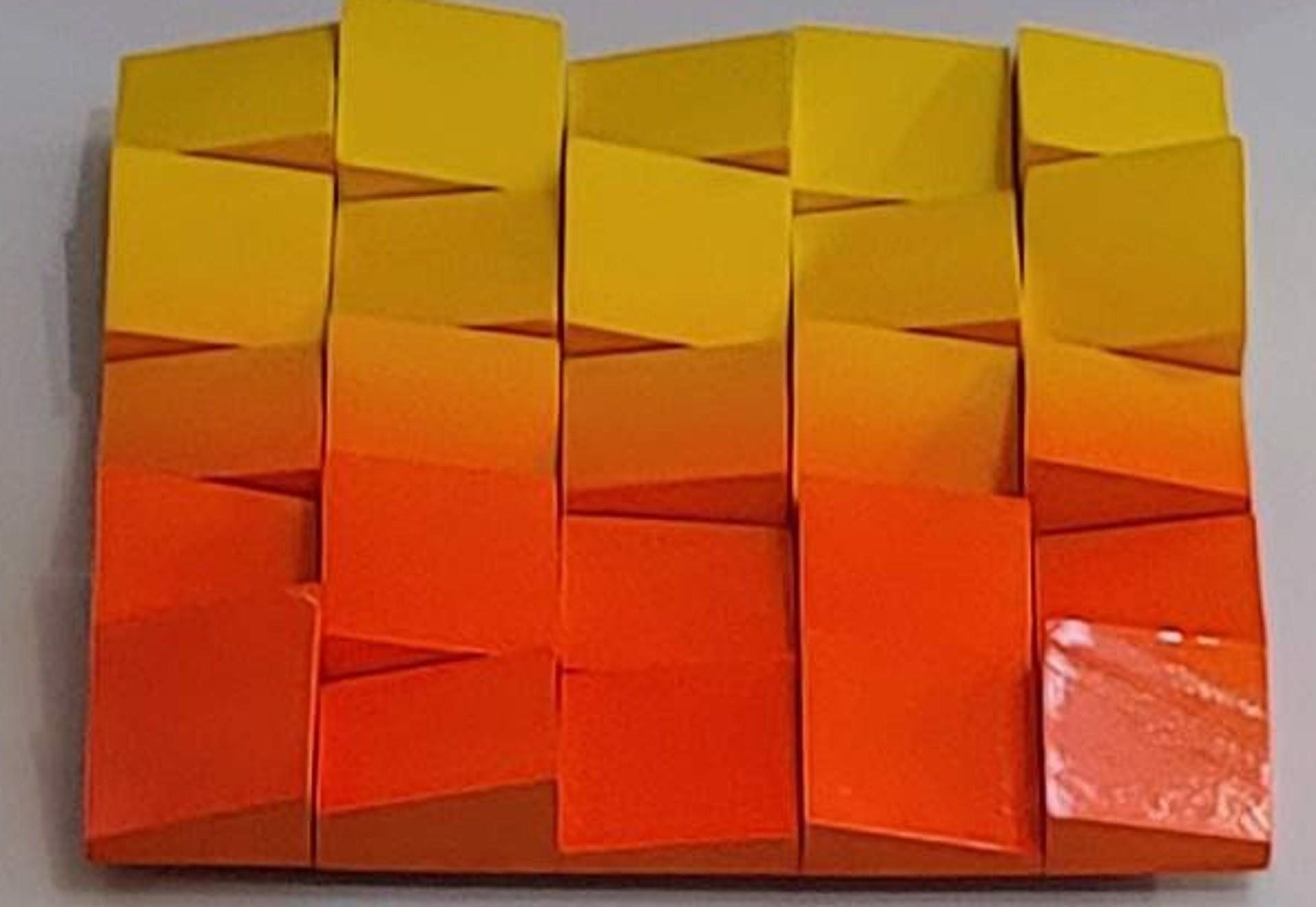 Neon Waves Orange/Yellow Ombre by Efi Mashiah