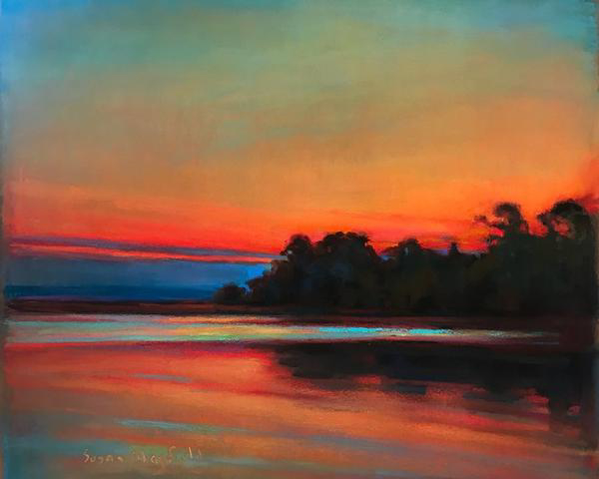 Red Sky Edisto by Susan Mayfield
