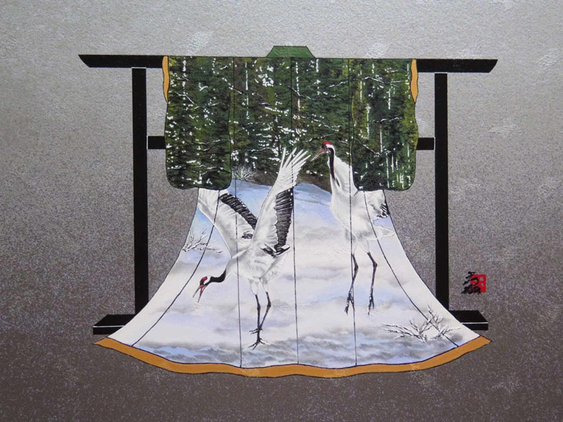 Dancing Crane 3 Tancyouzuru by Hisashi Otsuka