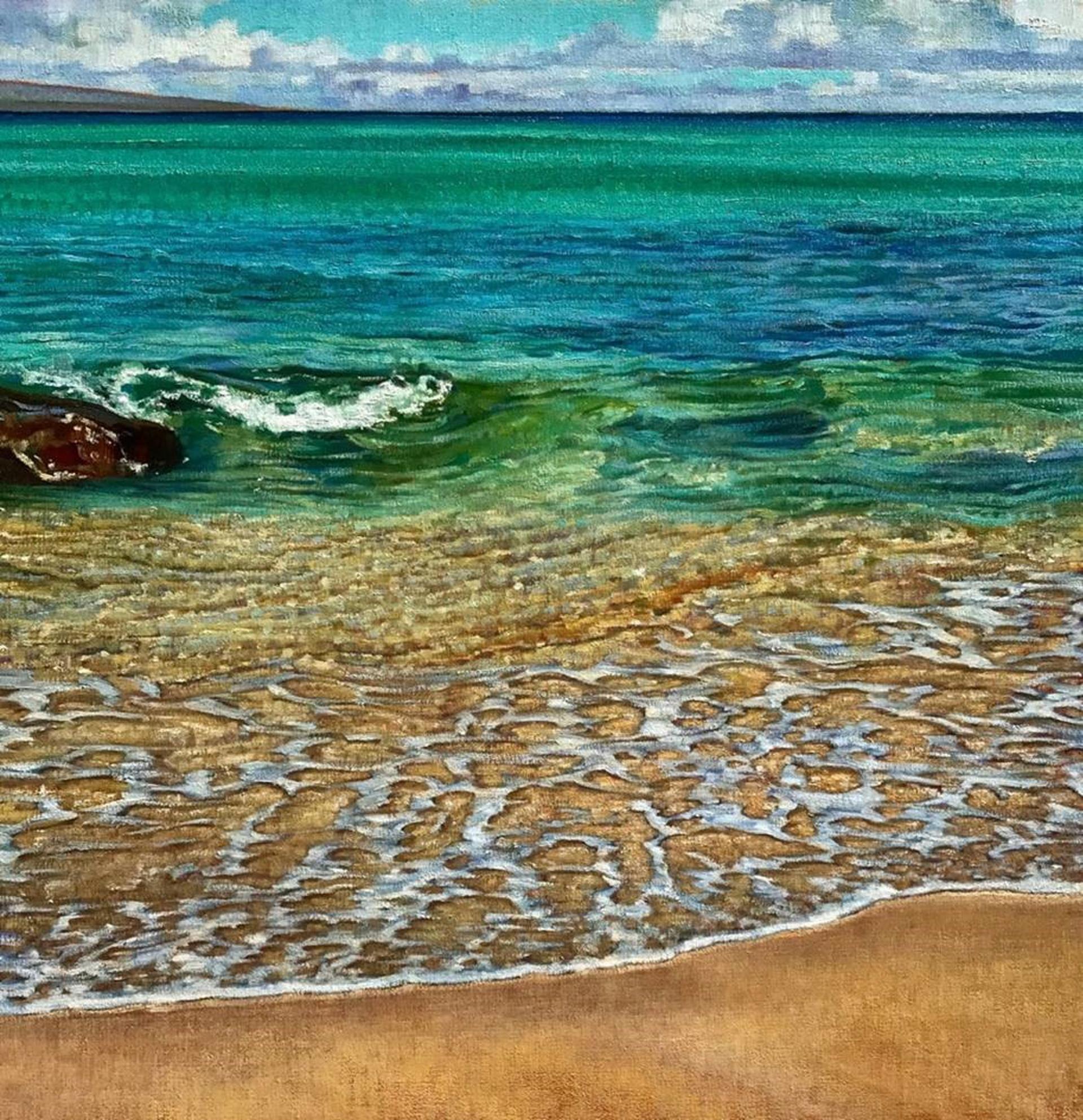 Maui Beach Morning Tide by Caroline Zimmermann