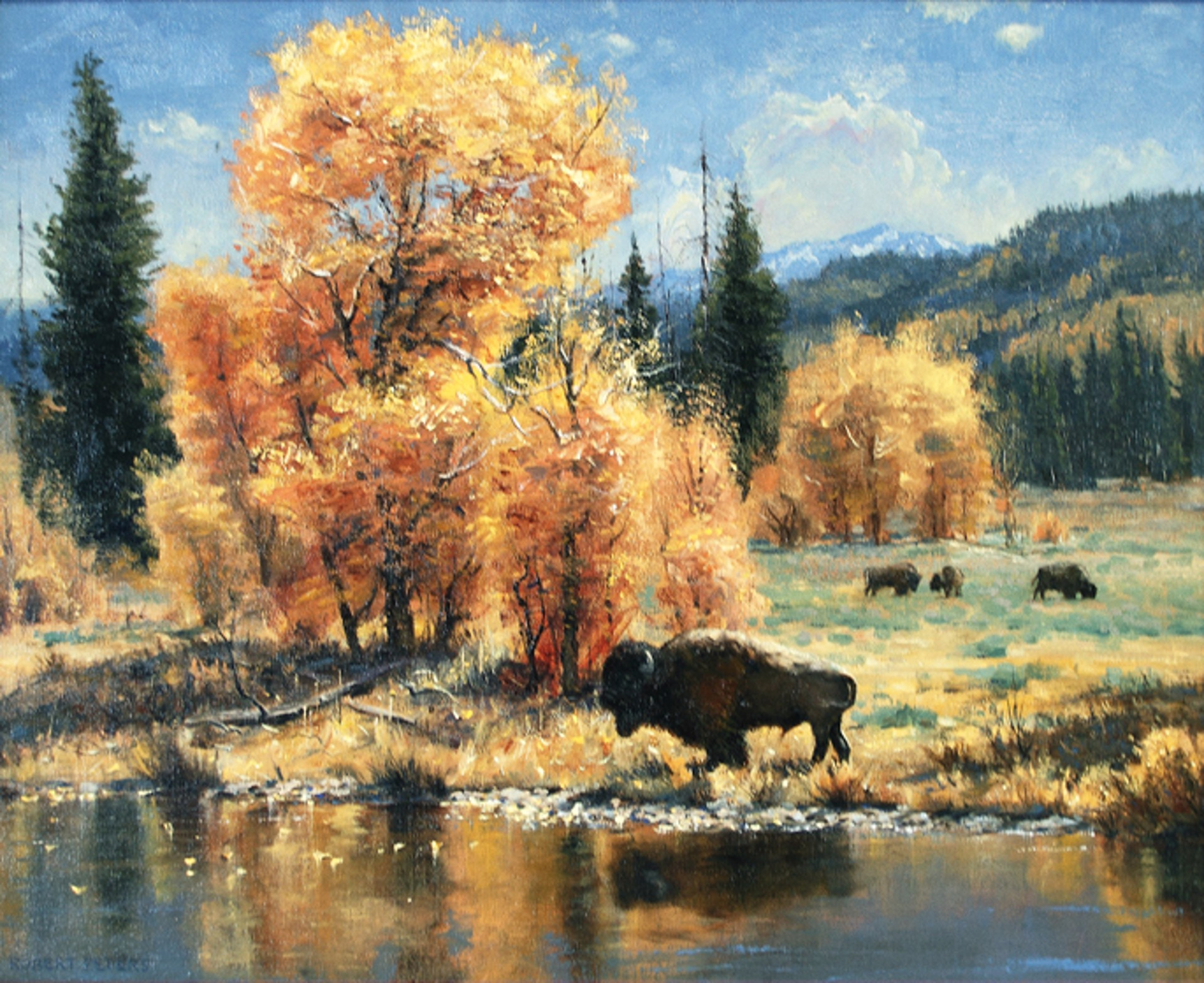 Yellowstone Autumn by Robert Peters