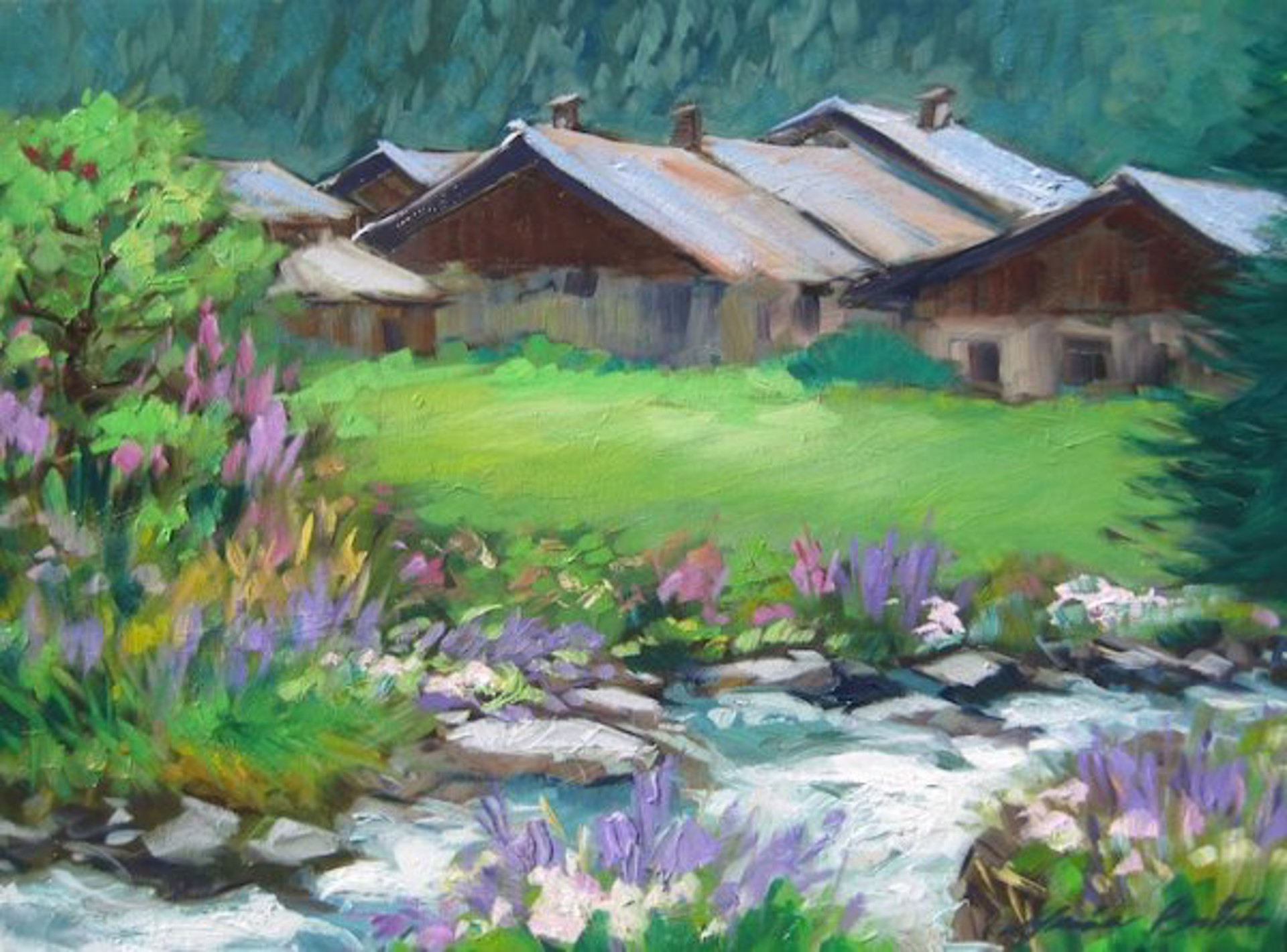Stream In The Alps by Maria Bertrán