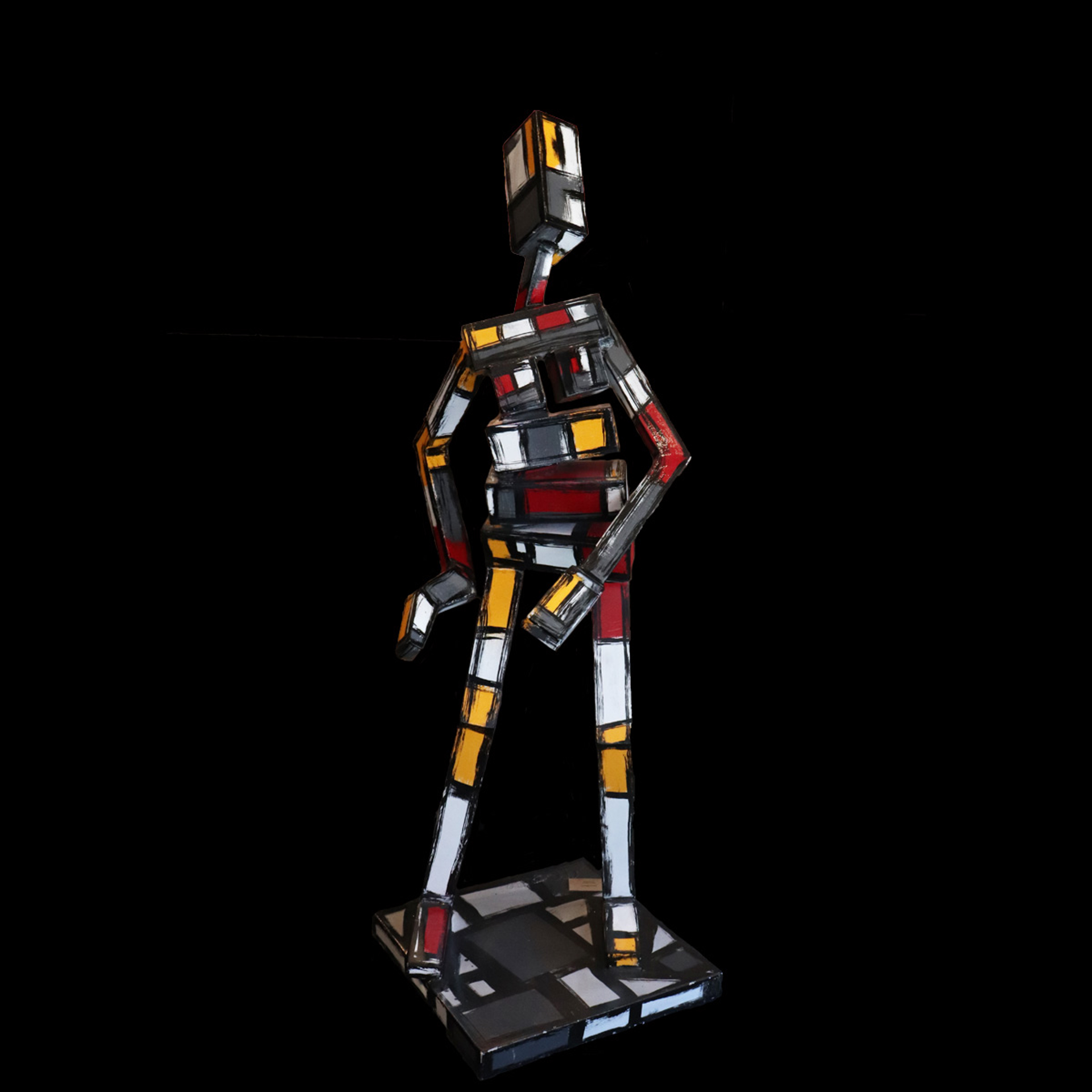 Dance Figure (Yellow, White, Red) by James Moore