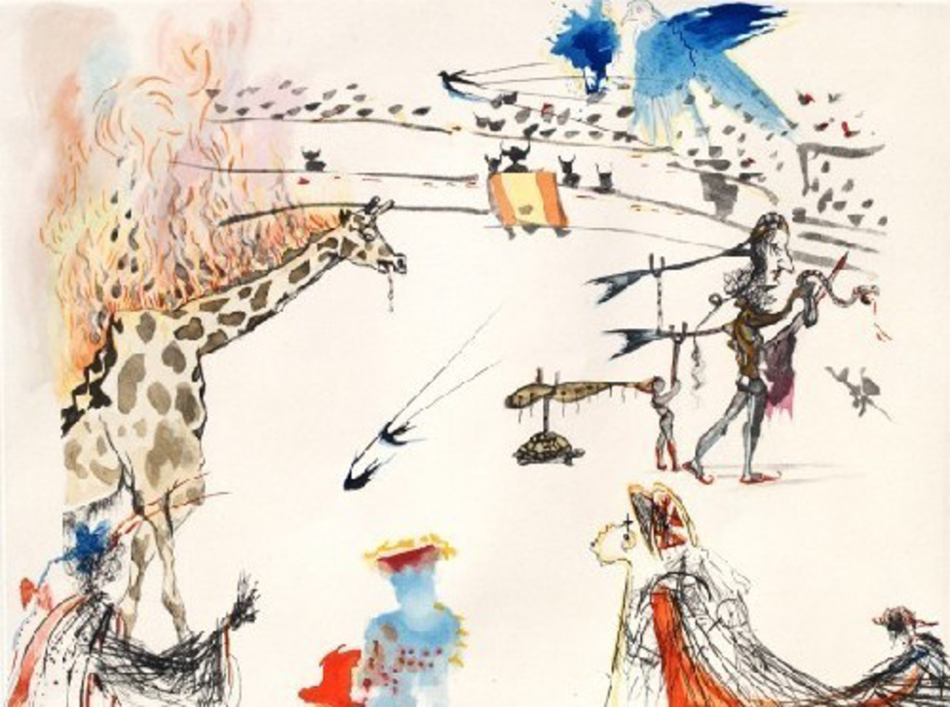 The Burning Giraffe from the Tauromachie Suite by Salvador Dali (1904 - 1989)