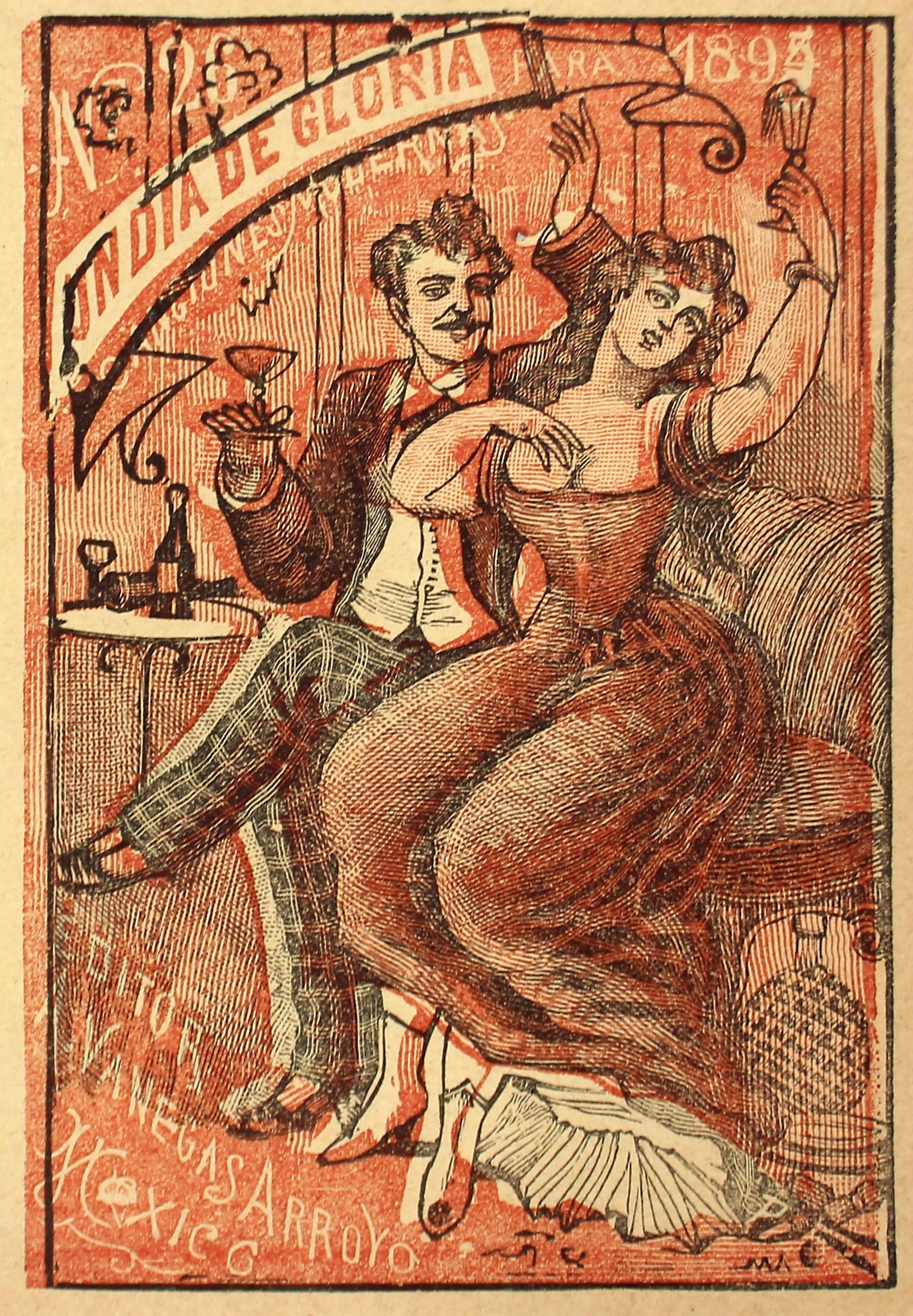 Un Dia de Gloria. Canciones modernas, No. 26. by José Guadalupe Posada (1852 - 1913)