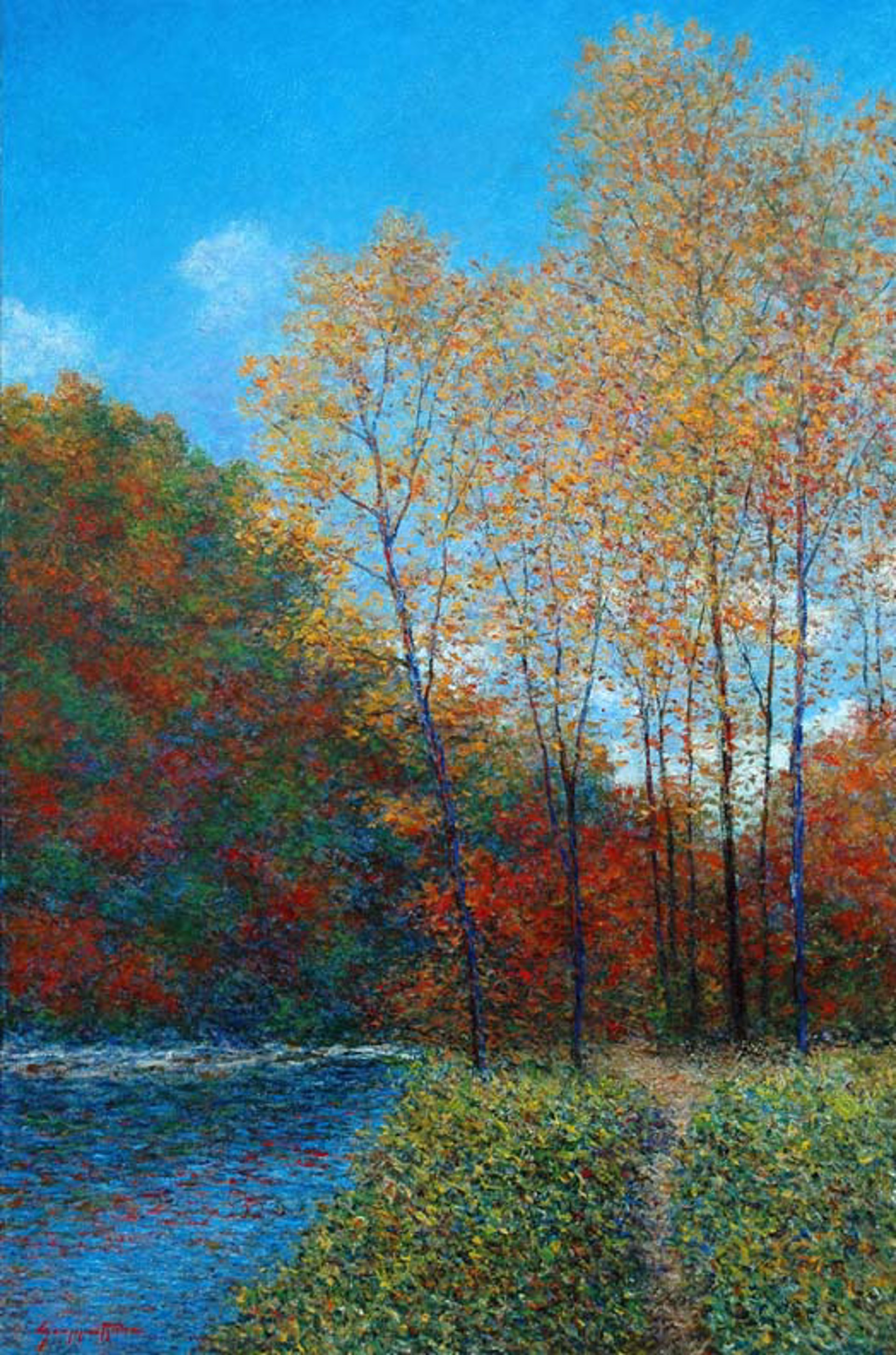 The River In Autumn by James Scoppettone