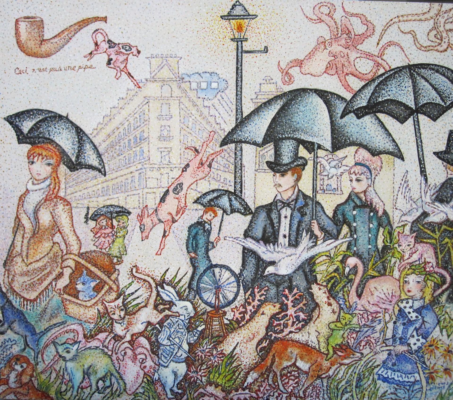 Rainy Day in Paris by Louis Recchia